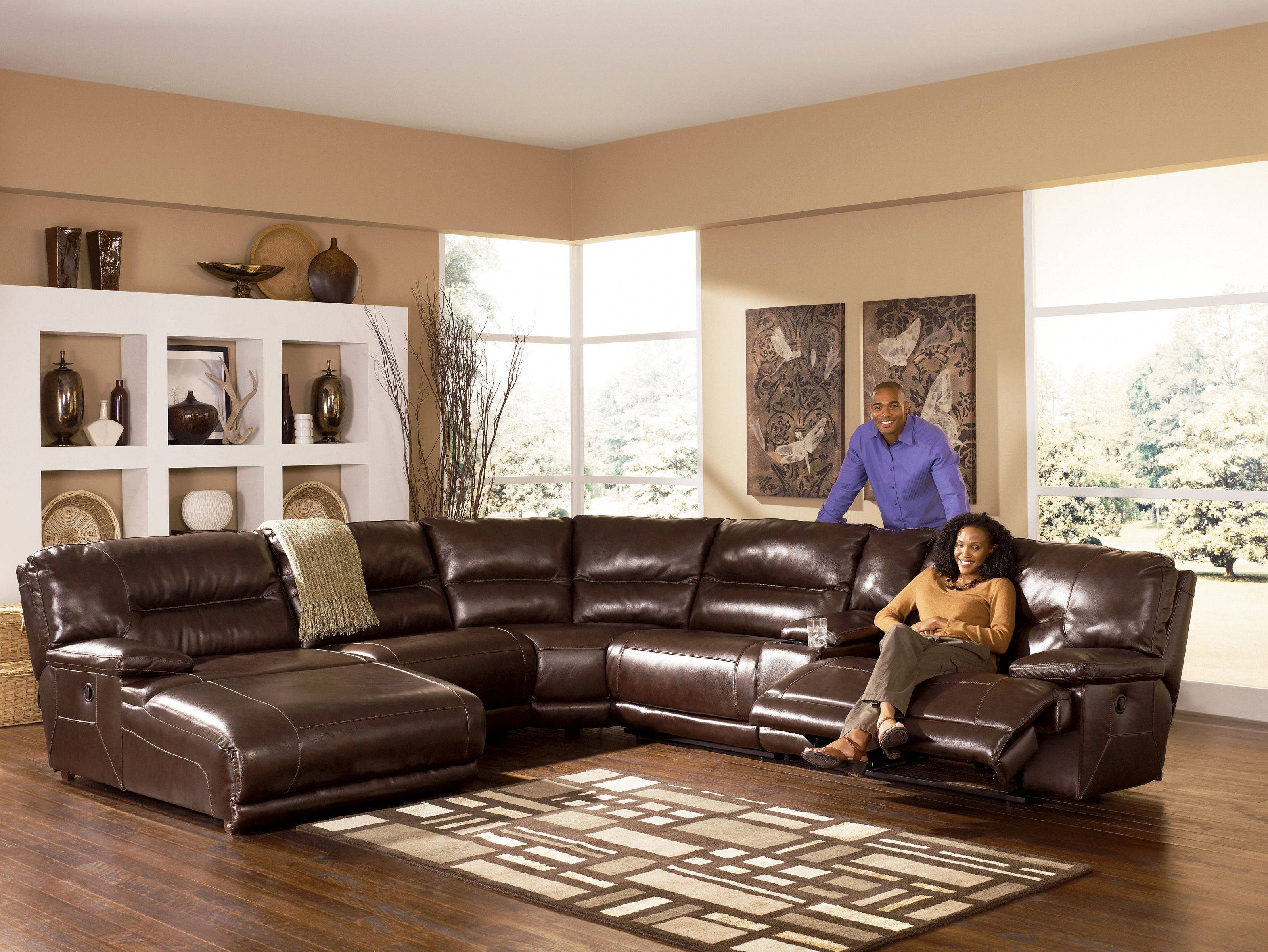 exhilaration chocolate sectional left side chaise the classy home