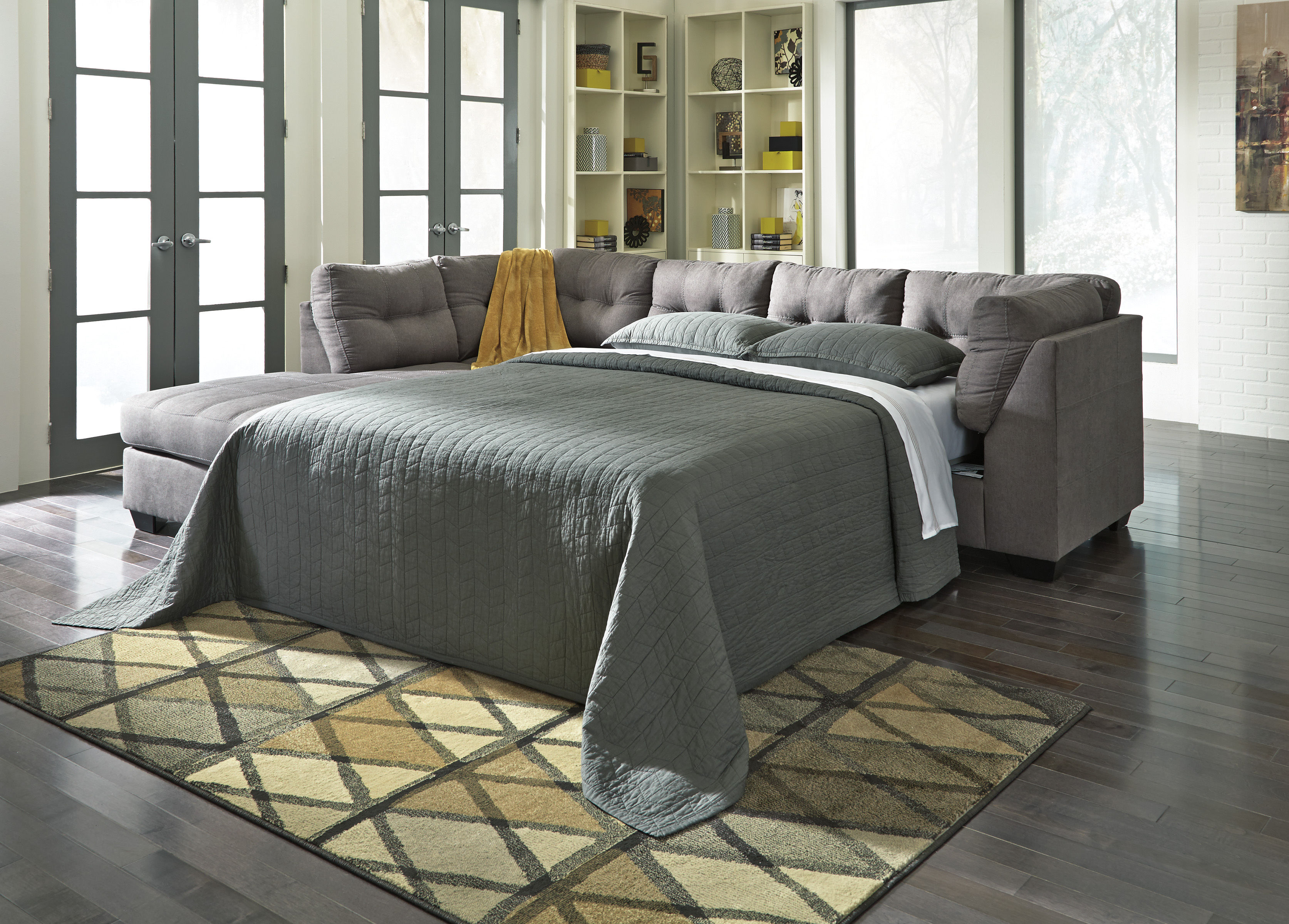 home bed right contemporary lsg furniture boulevard item collections loric chaise sectional smoke piece with ashley furnishings sofa