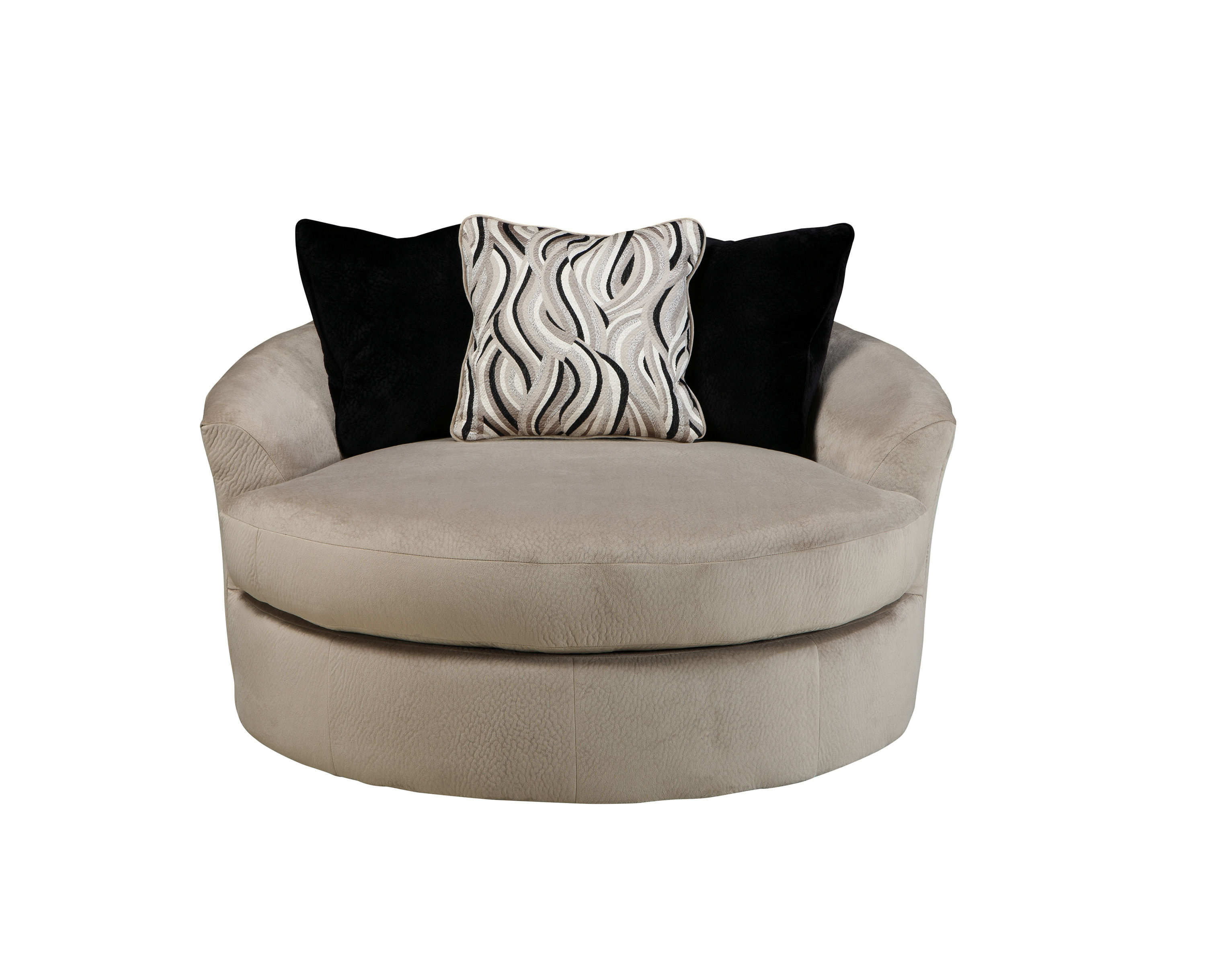 Heflin contemporary pebble fabric oversized swivel accent for Oversized chair cheap