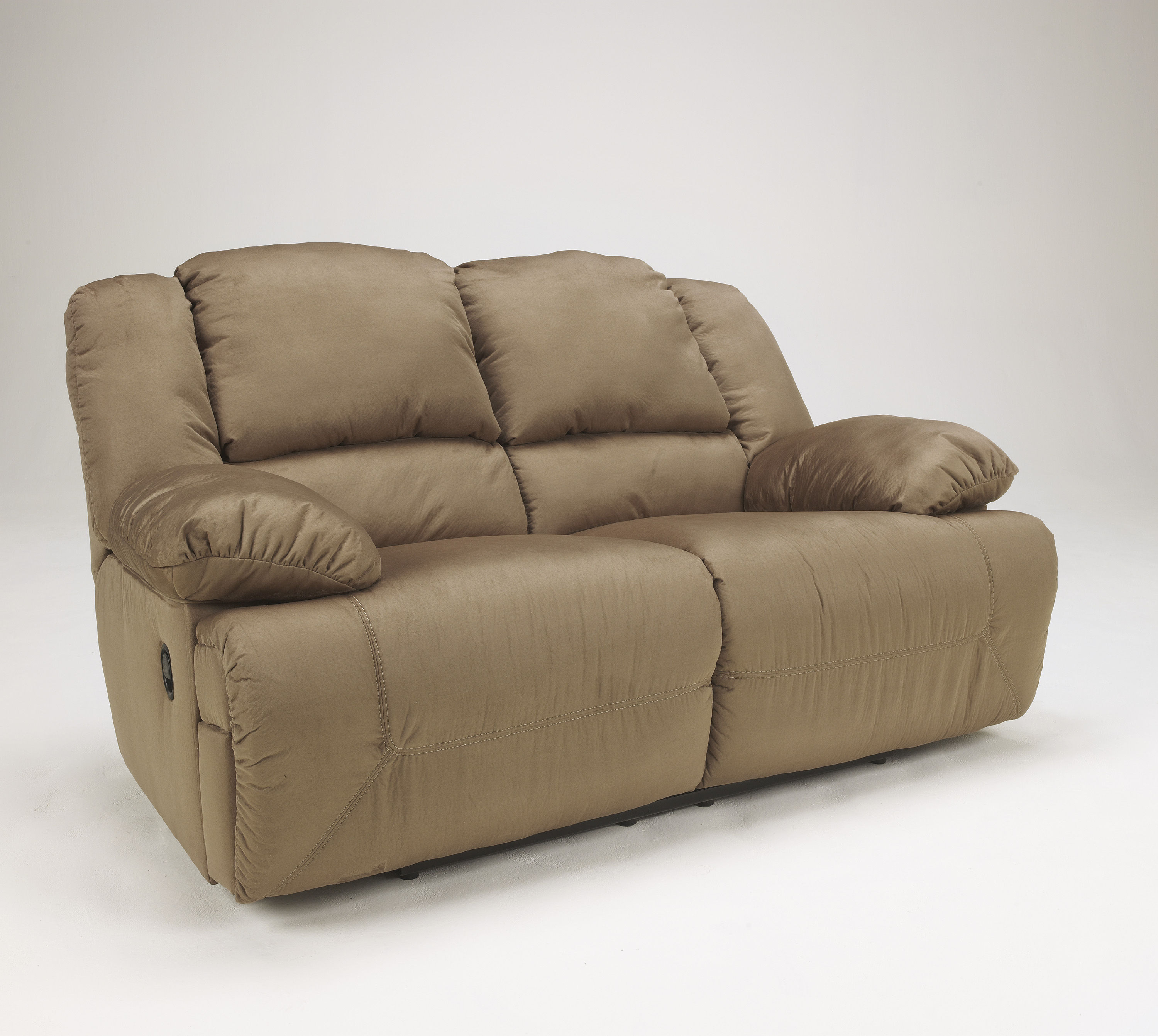 Click To Enlarge Loading Ashley Furniture Hogan Mocha Reclining Loveseat