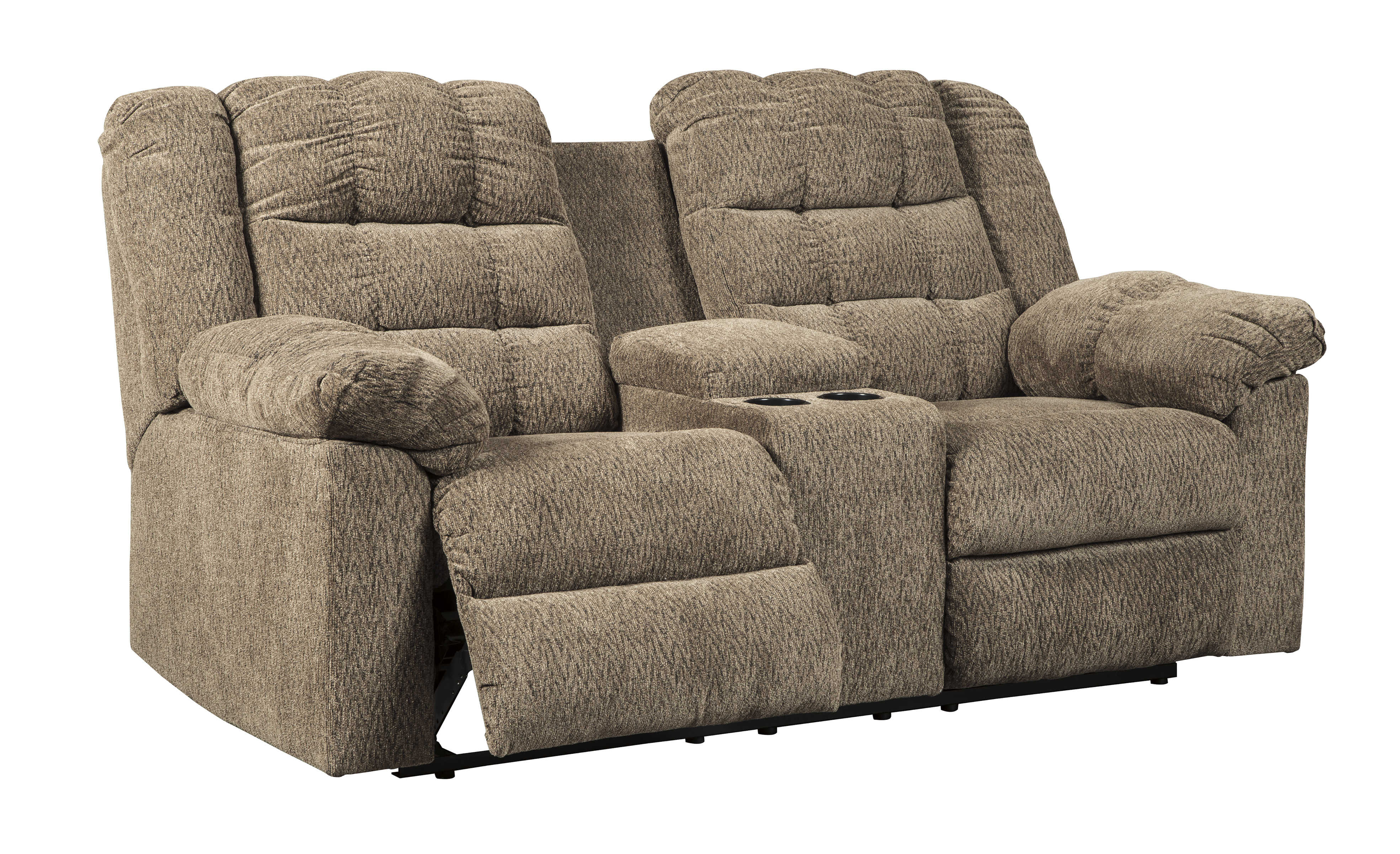Ashley Furniture Workhorse Double Reclining Console Loveseat Click To Enlarge