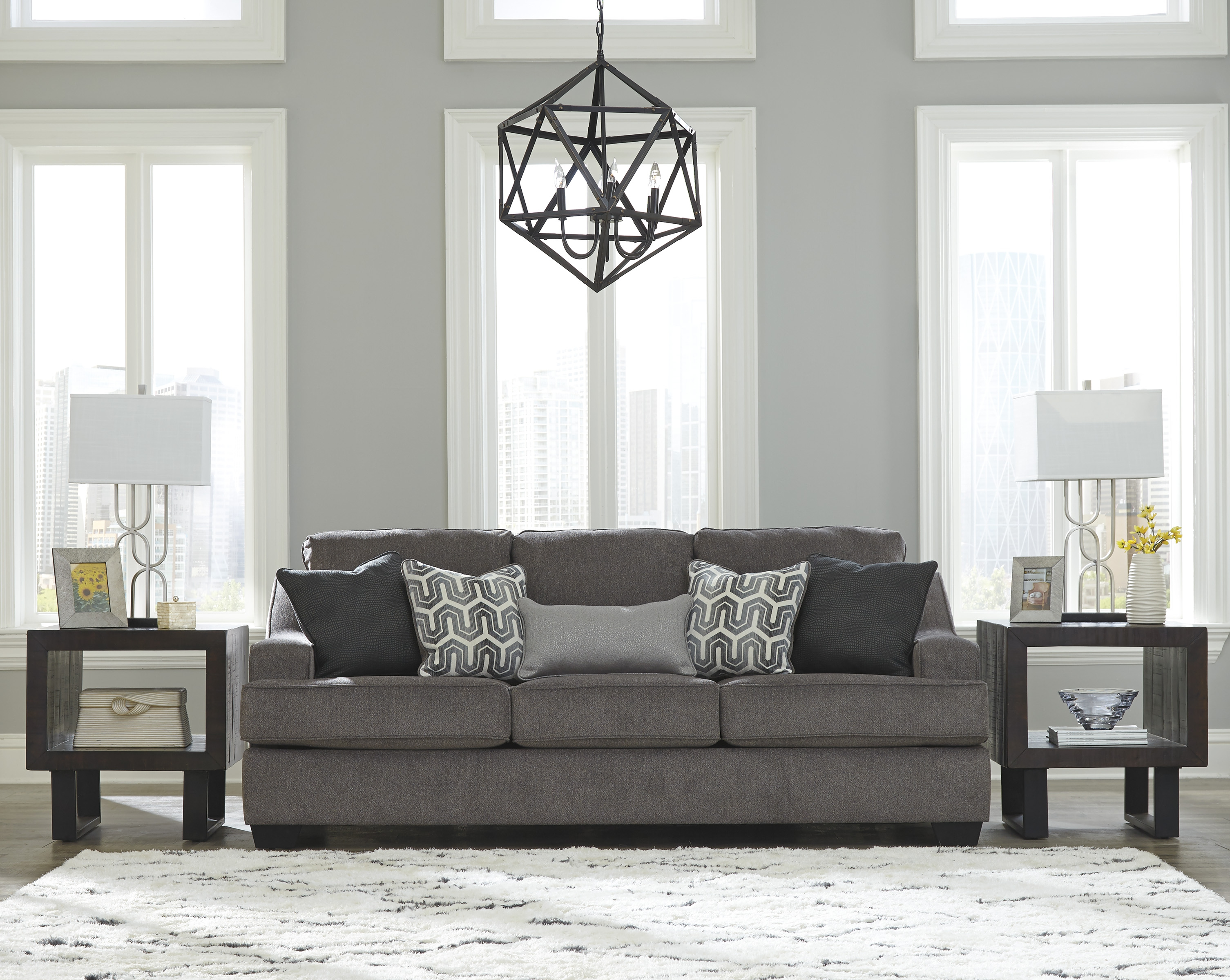 Ashley Furniture Gilmer Gunmetal Sofa | The Classy Home
