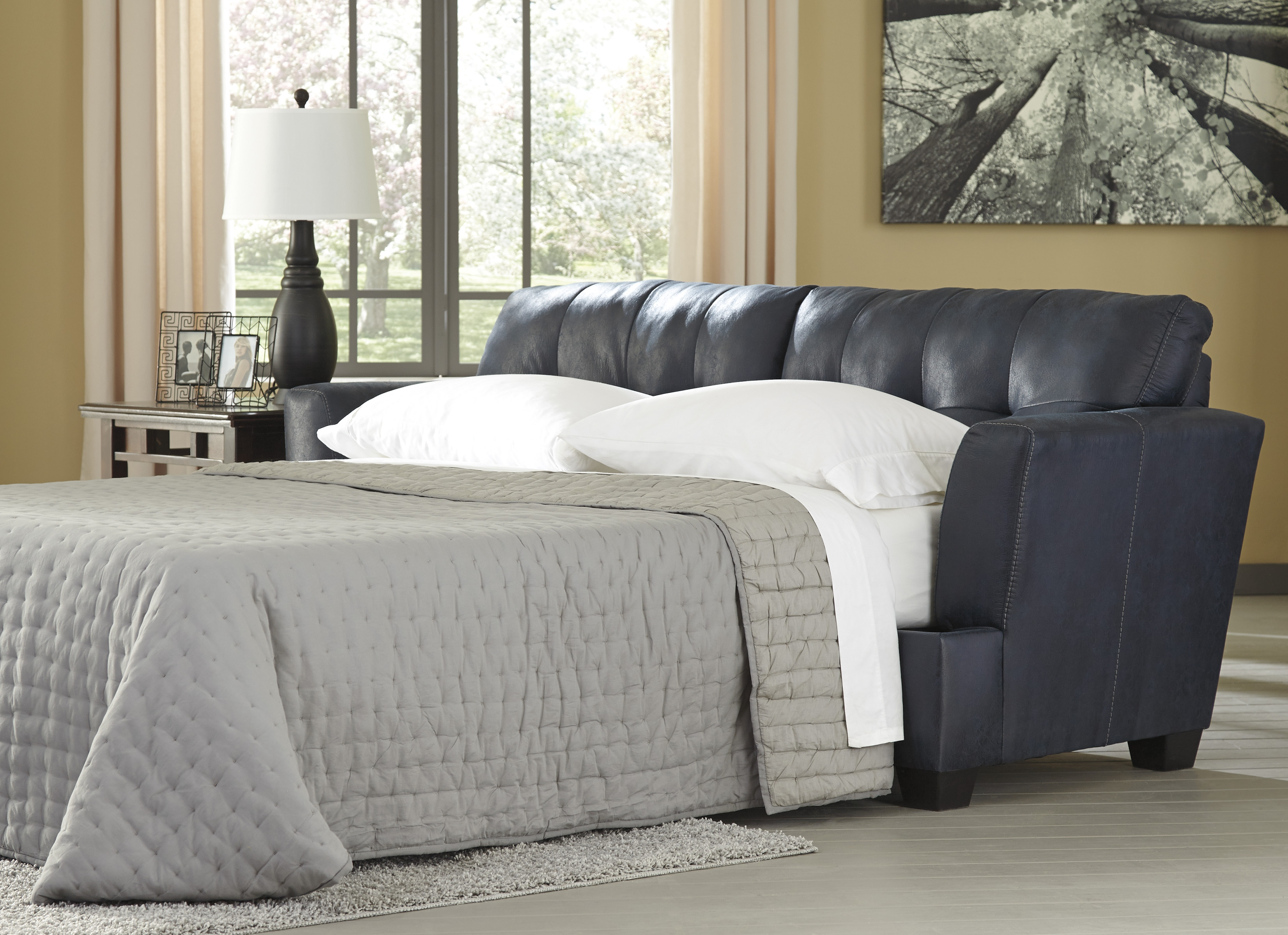 Ashley Furniture Inmon Navy Queen Sofa Sleeper The Classy Home