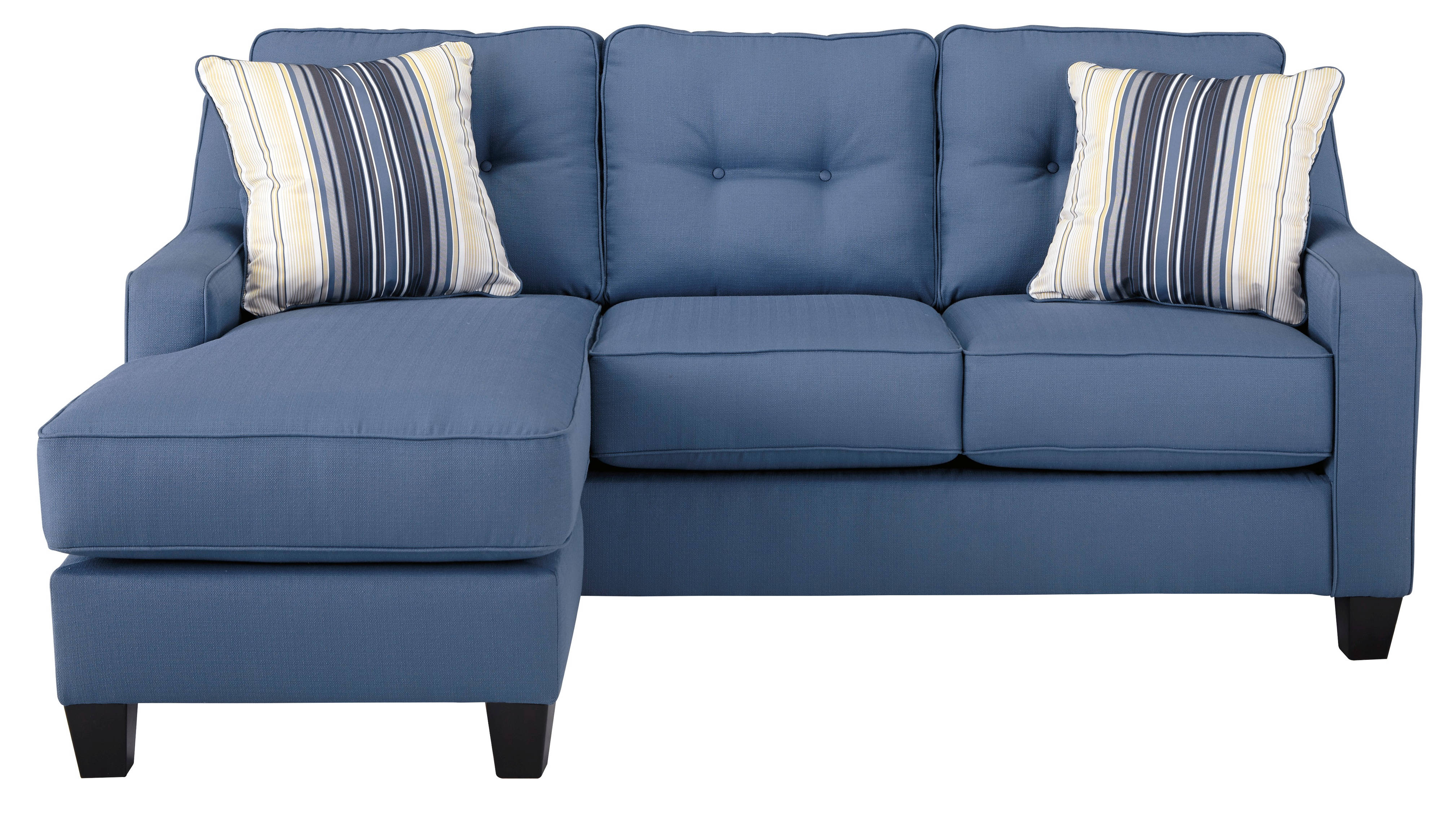 new style 75ab7 5c1ae Ashley Furniture Aldie Nuvella Blue Sofa Chaise | The Classy ...