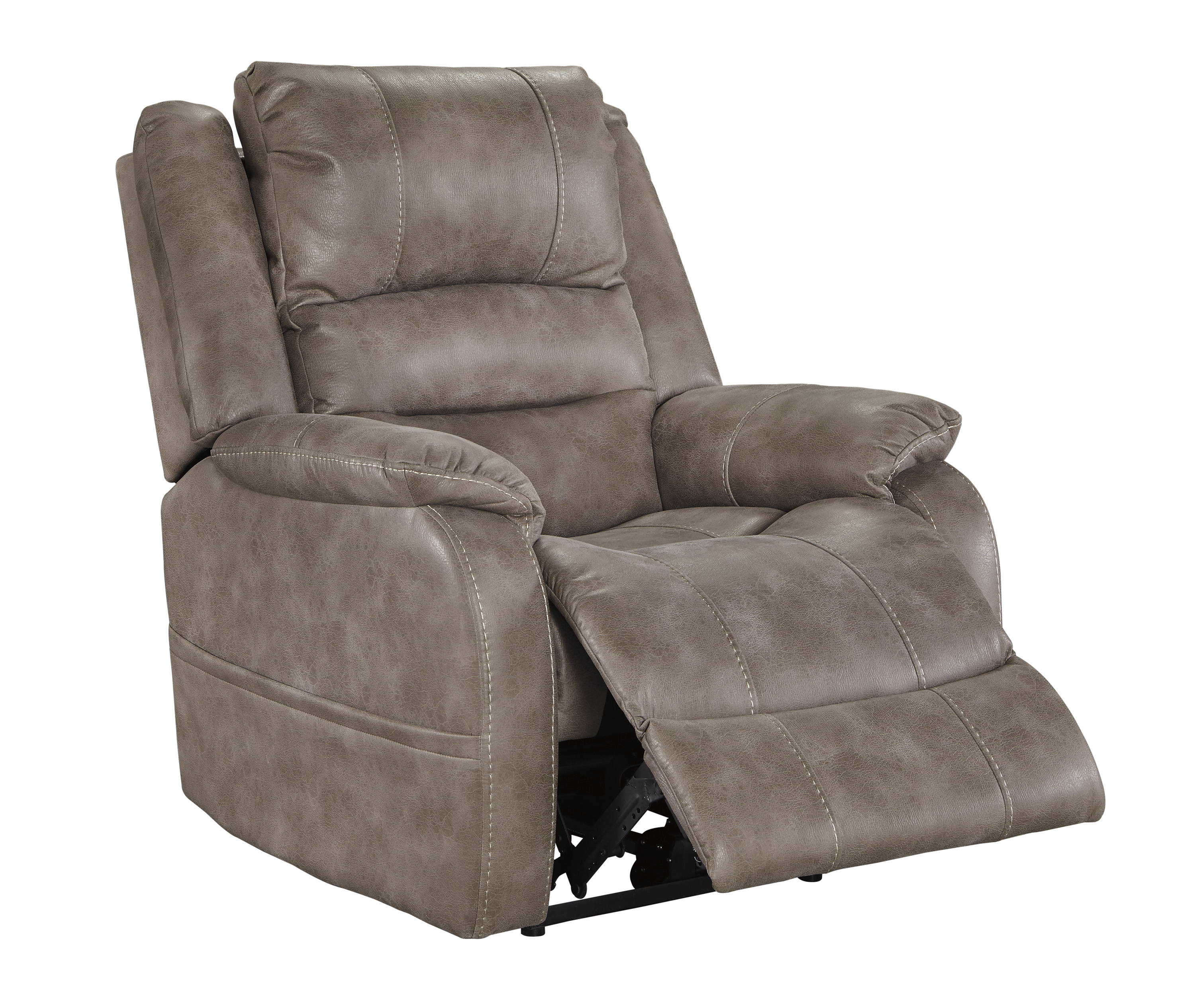 Ashley Furniture Barling Mushroom Adjustable Headrest Power Recliner The Classy Home