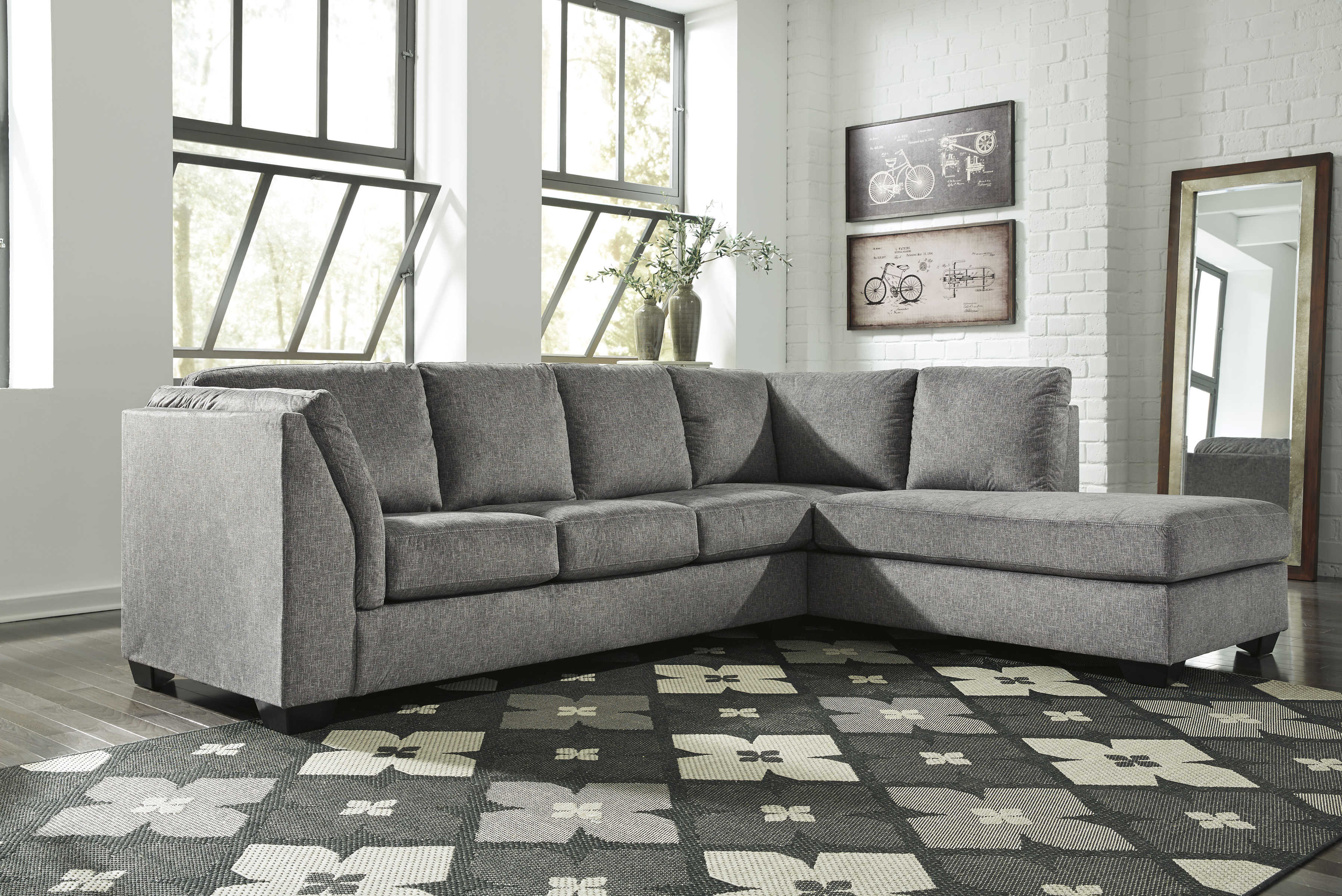 Ashley Furniture Belcastel Ash Raf Chaise Sectional The