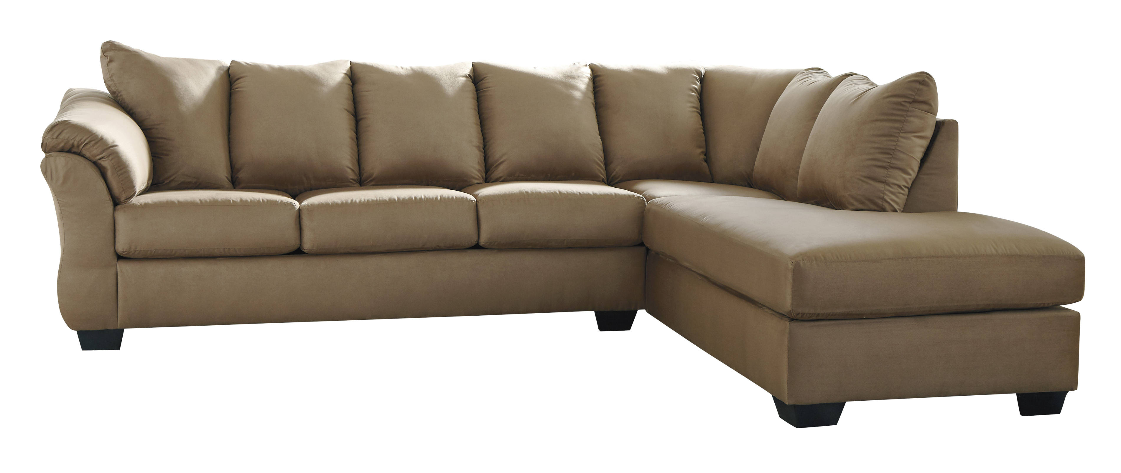 Admirable Ashley Furniture Darcy Mocha Raf Sectional Home Remodeling Inspirations Basidirectenergyitoicom