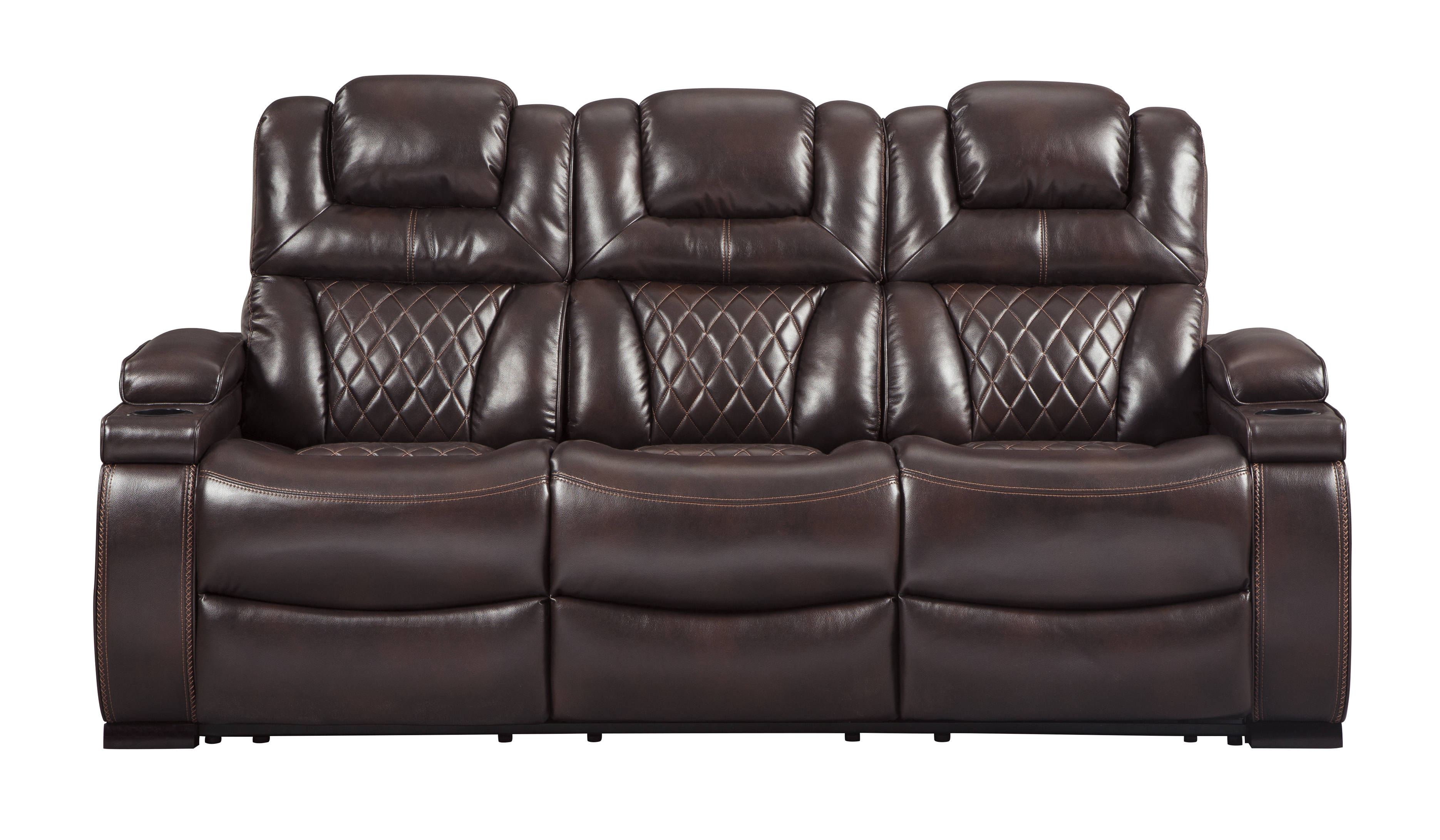 Wondrous Ashley Furniture Warnerton Chocolate Power Reclining Sofa Home Interior And Landscaping Mentranervesignezvosmurscom