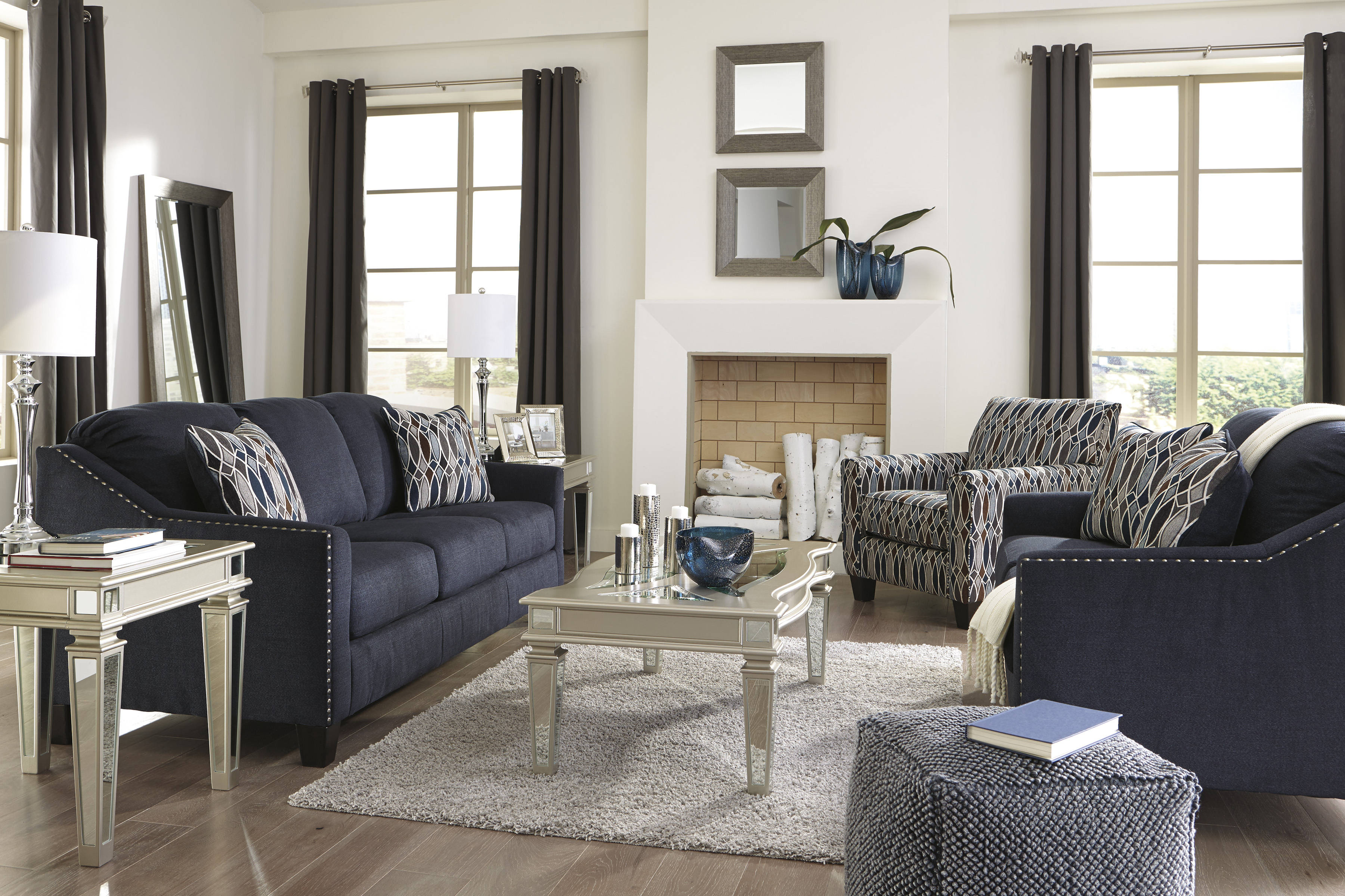 Ashley Furniture Creeal Heights Ink 3pc Living Room Set ...