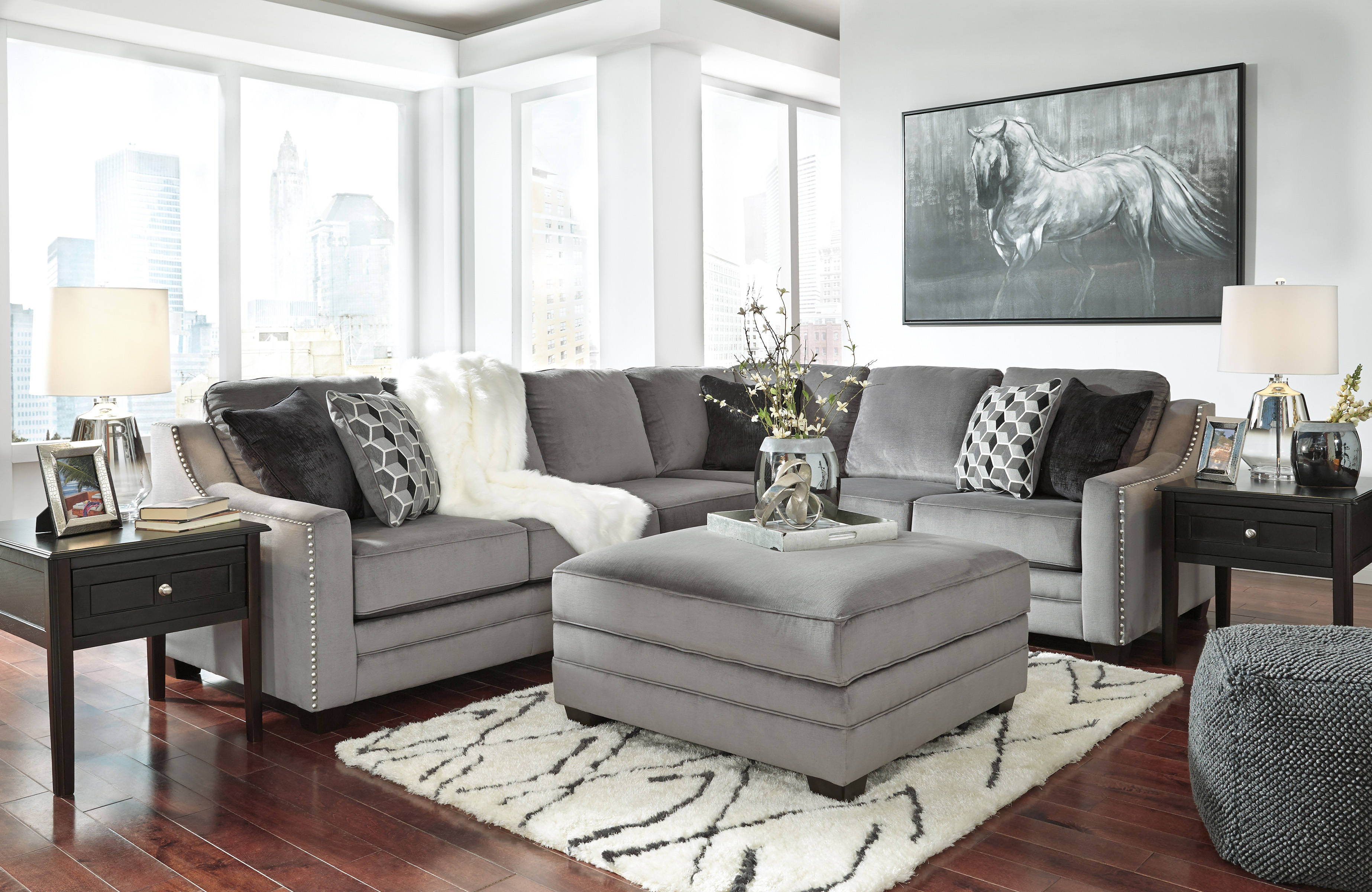 Tremendous Ashley Furniture Bicknell Charcoal Laf Sofa And Ottoman Pdpeps Interior Chair Design Pdpepsorg
