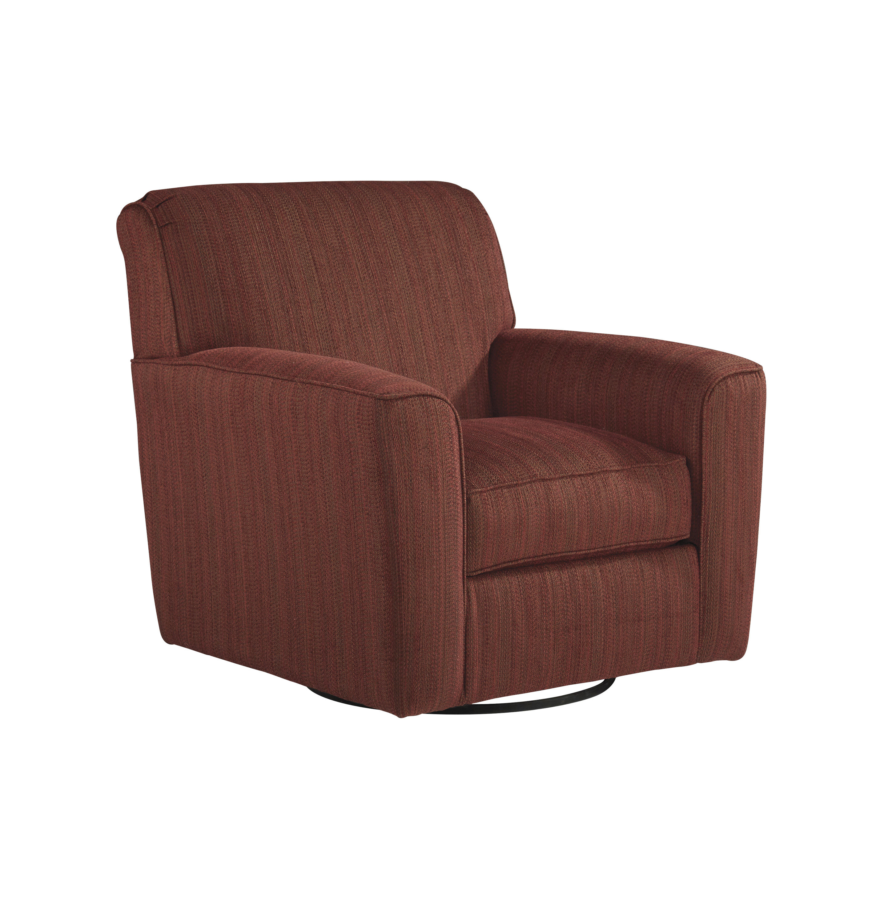 Doralin contemporary rustic fabric swivel accent chair for Modern swivel accent chair