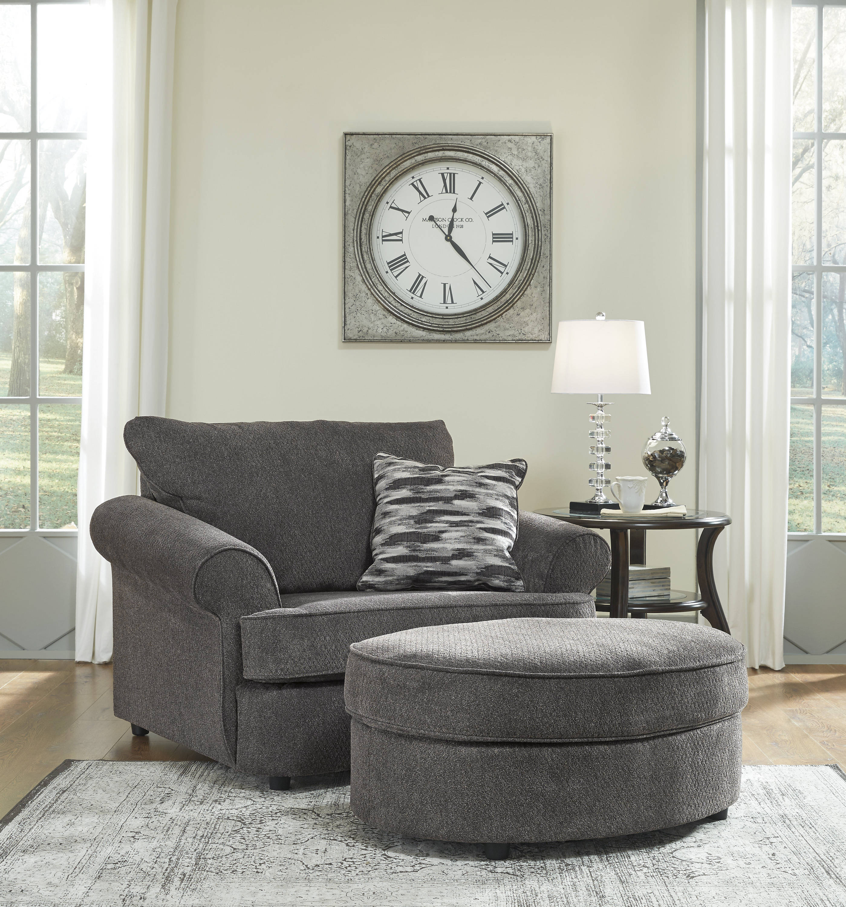 Sale Ashley Furniture: Ashley Furniture Allouette Chair And Ottomans Set