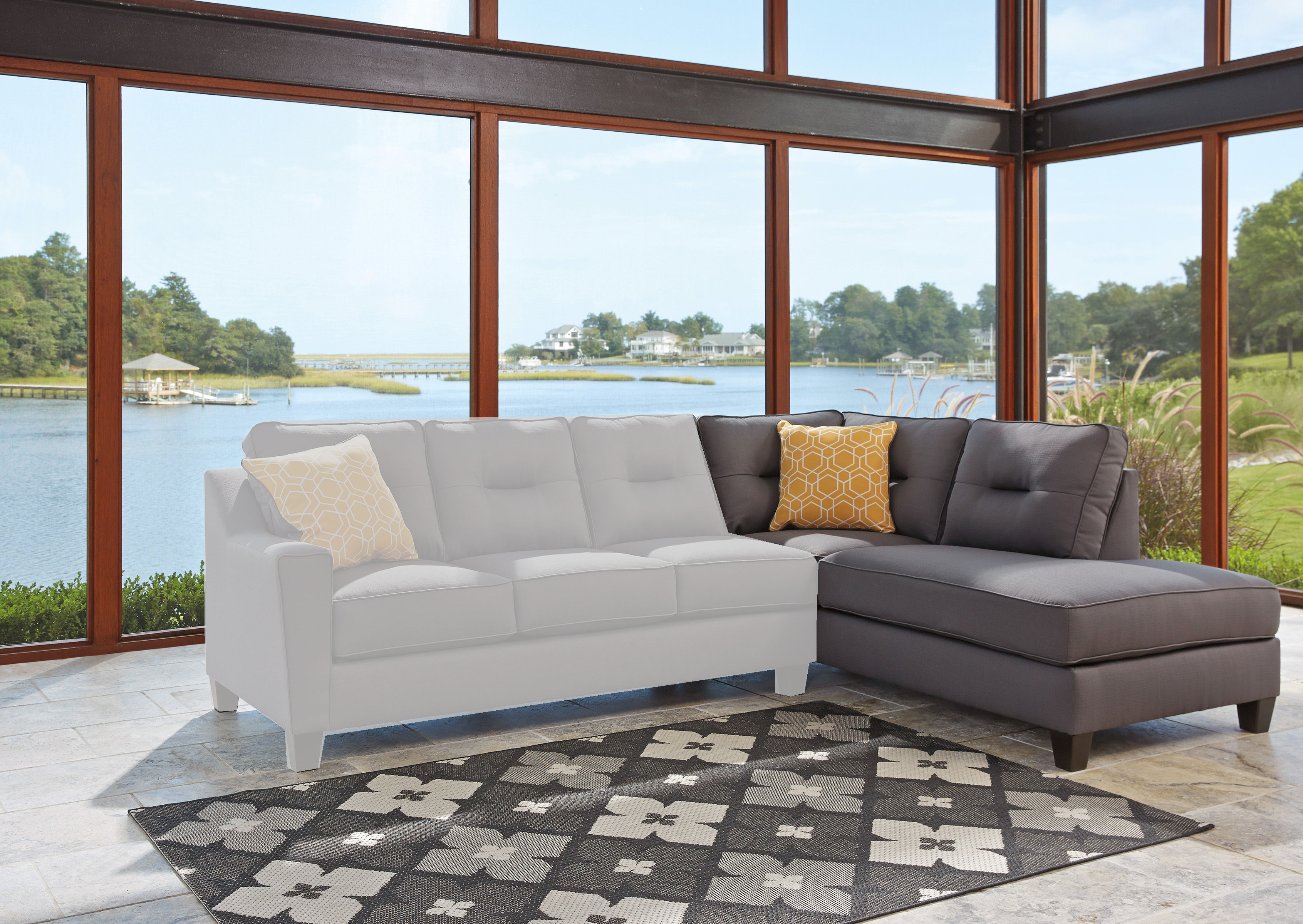 Terrific Ashley Furniture Kirwin Nuvella Gray Raf Corner Chaise The Home Interior And Landscaping Palasignezvosmurscom