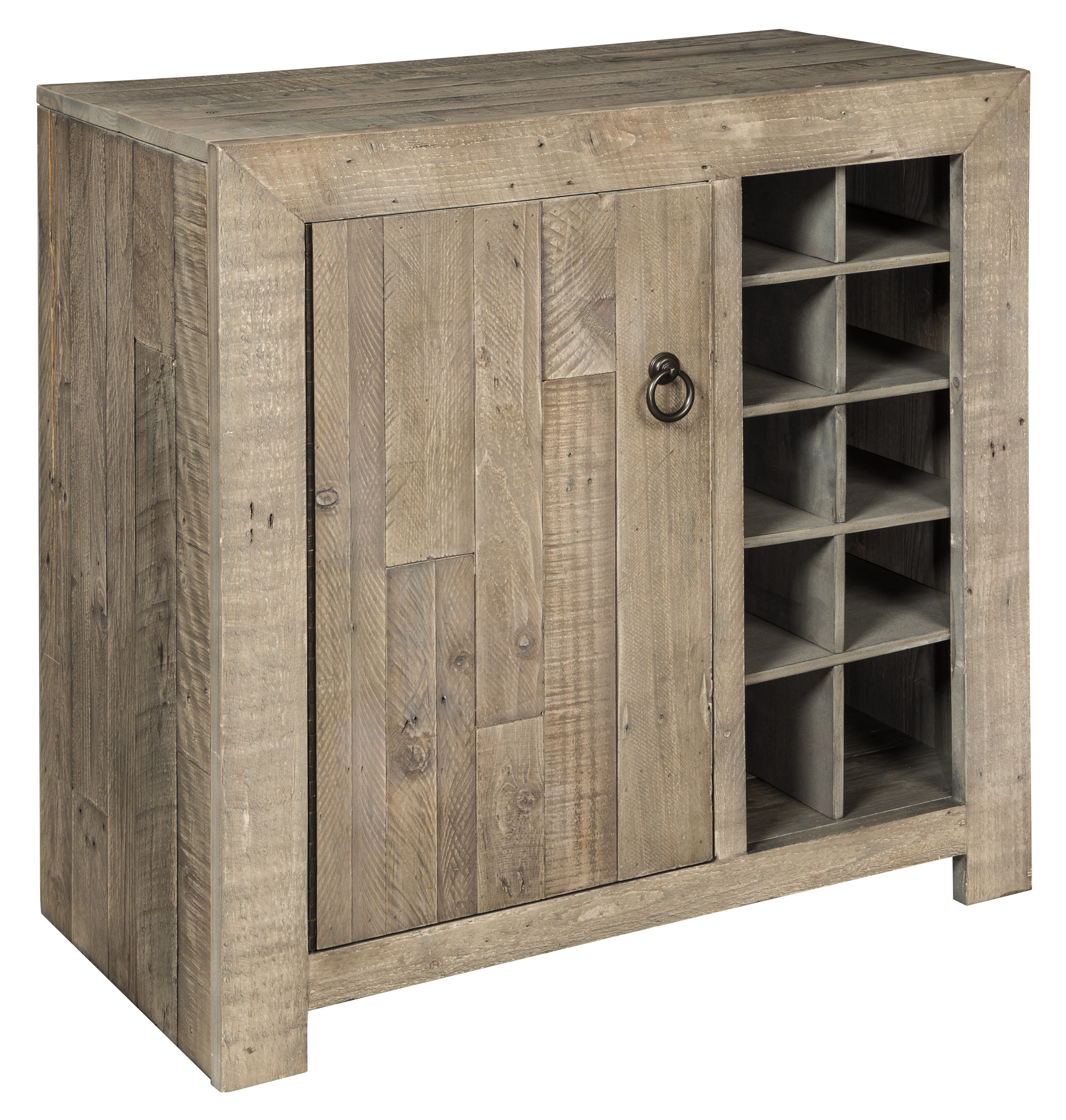 Ashley Furniture Forestmin Gray Wine Cabinet Click To Enlarge