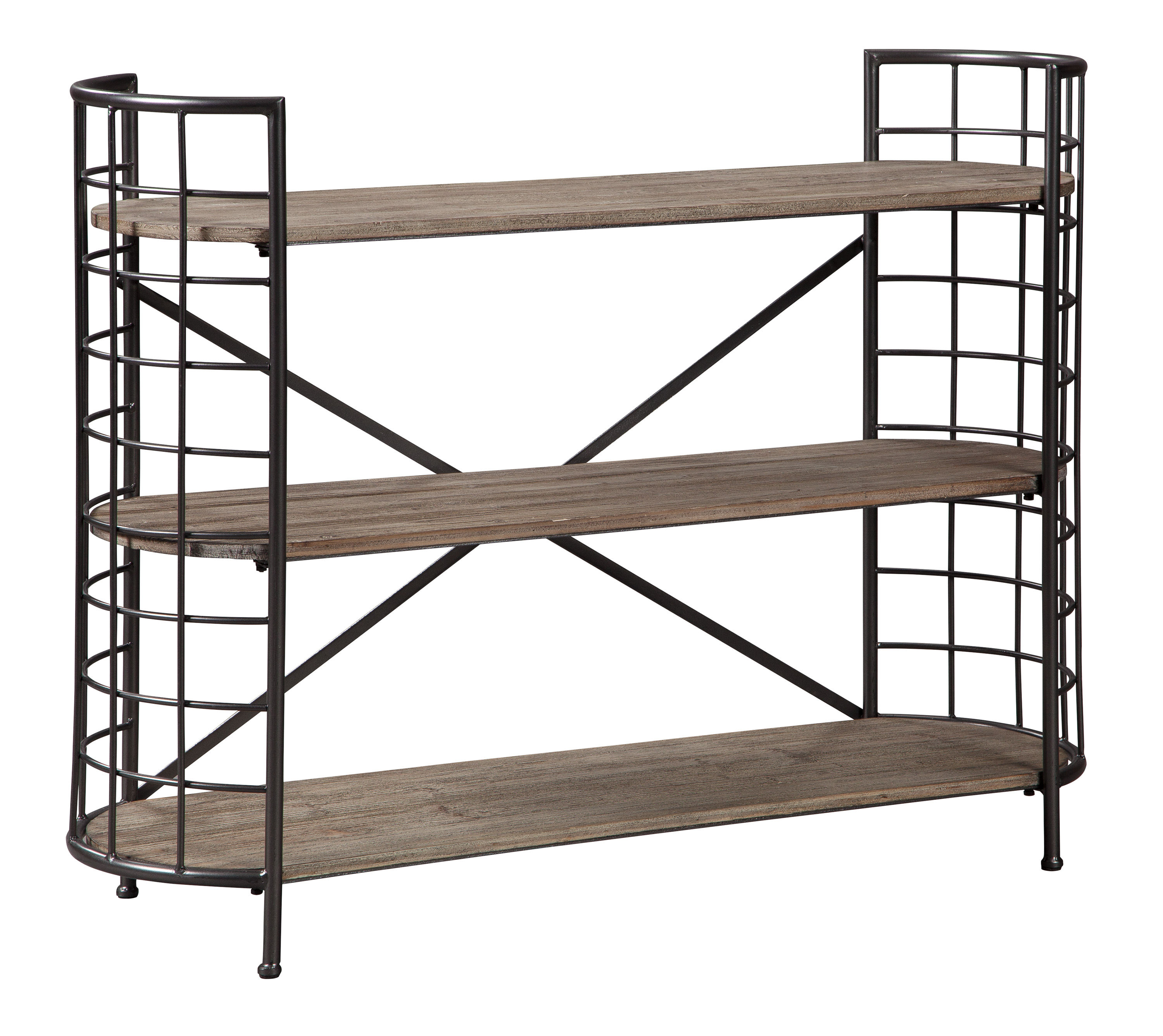 Ashley Furniture Flintley Brown Gunmetal Bookcase The Classy Home