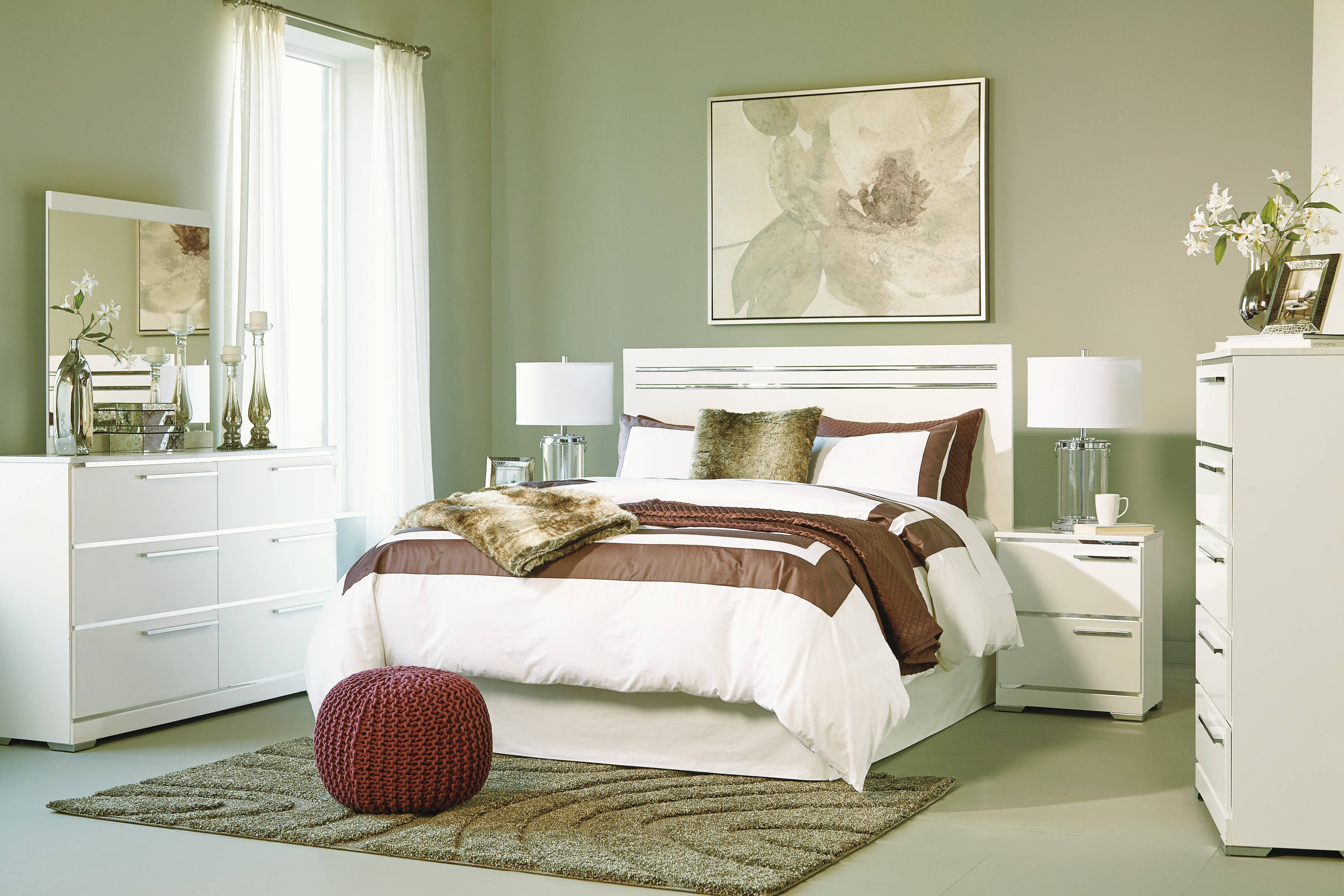 Ashley Furniture Brillaney White 2pc Bedroom Set with ...