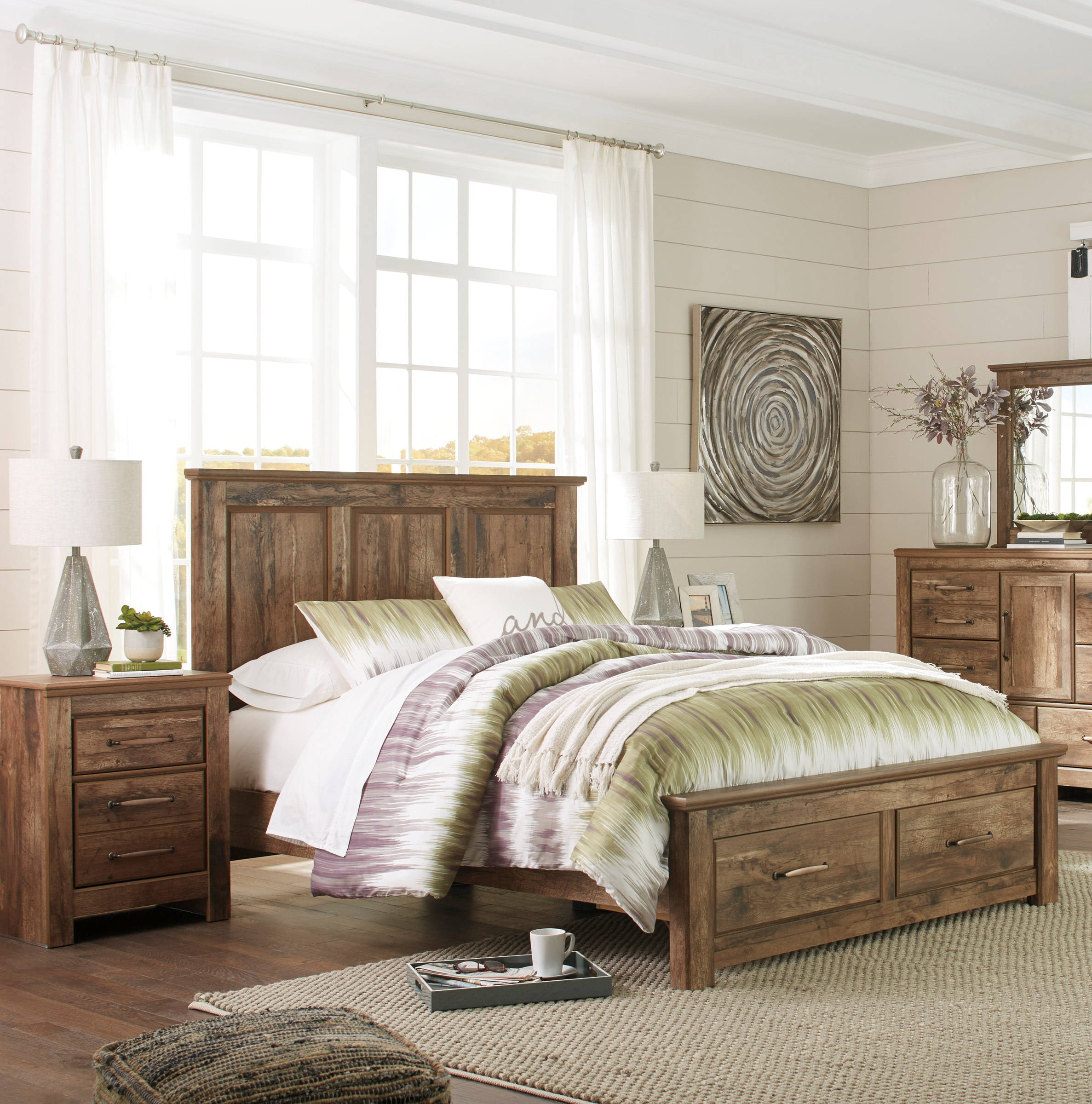 Ashley Furniture Blaneville 2pc Bedroom Set With Queen Storage Bed