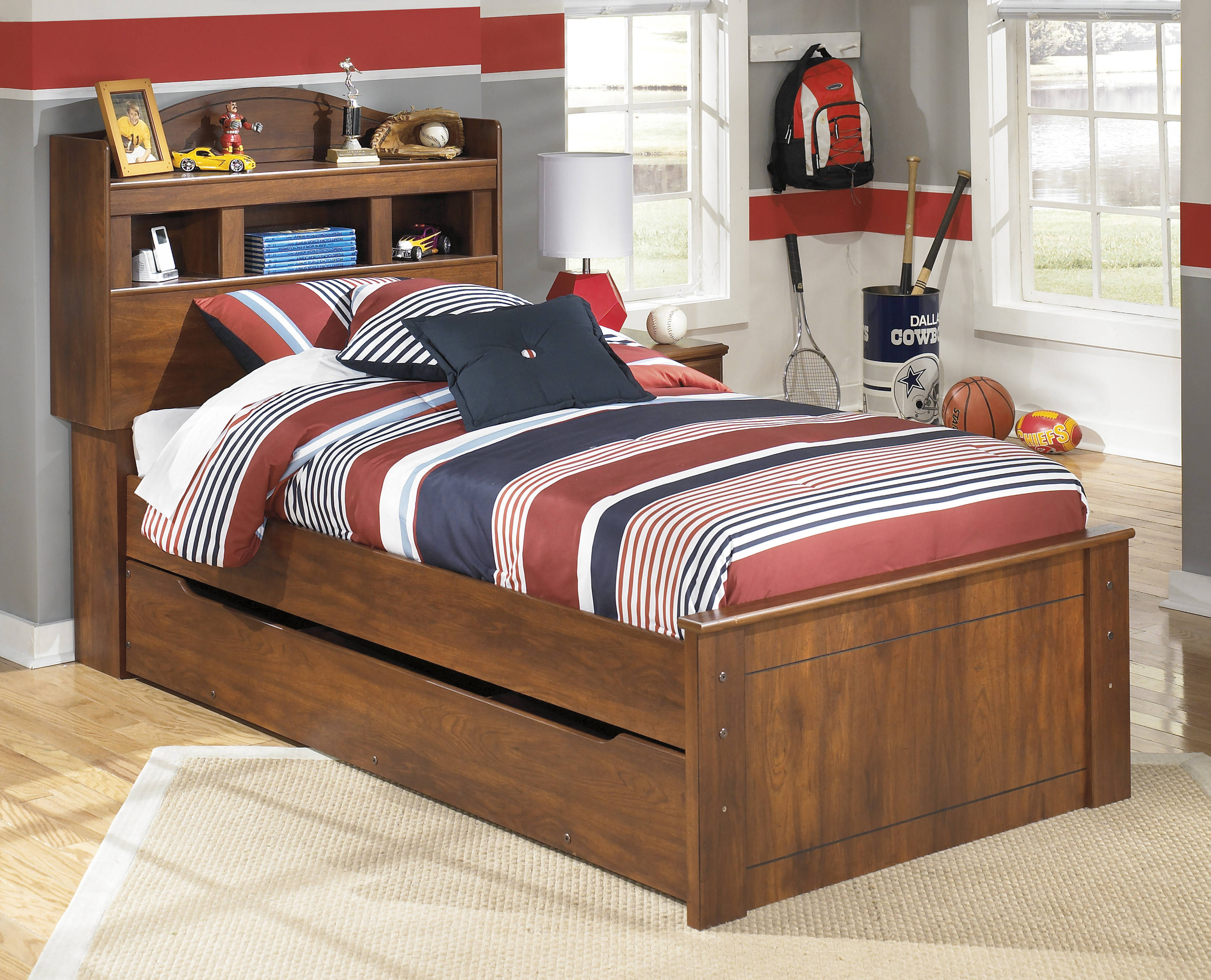 Ashley Furniture Barchan Trundle Bookcase Beds The Classy Home