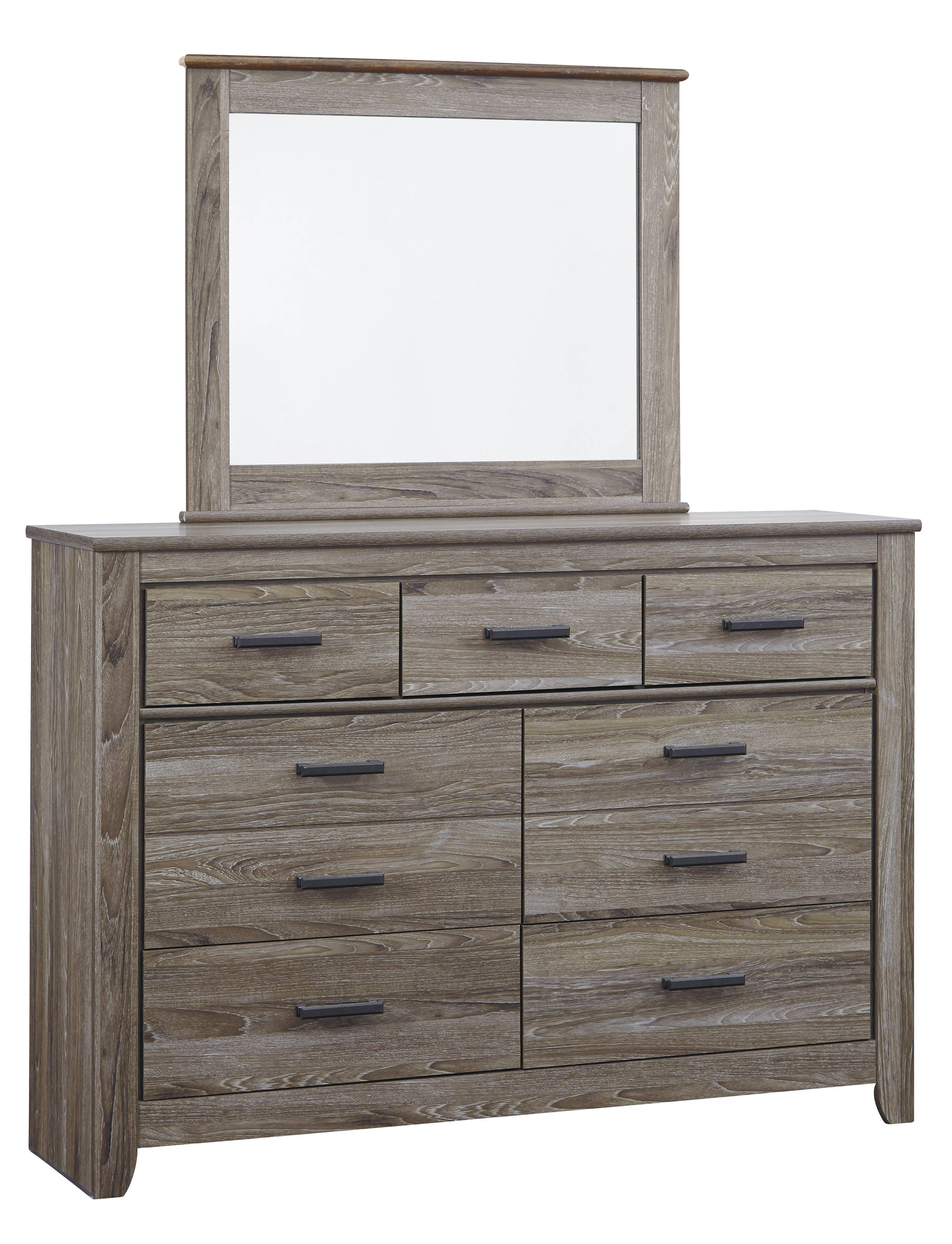 Ashley Furniture Zelen Dresser And Mirror Click To Enlarge
