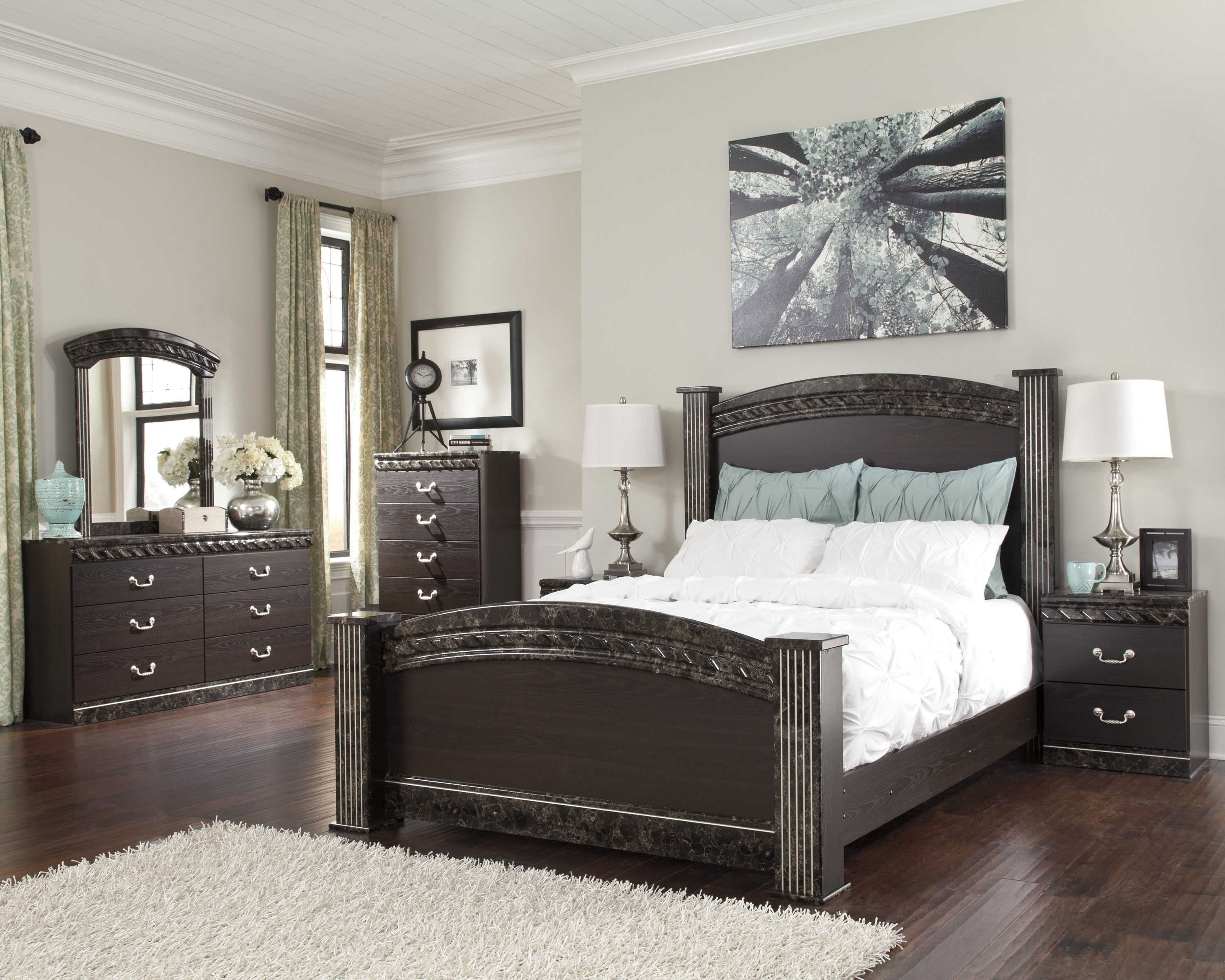Ashley furniture vachel master bedroom set the classy home No dresser in master bedroom