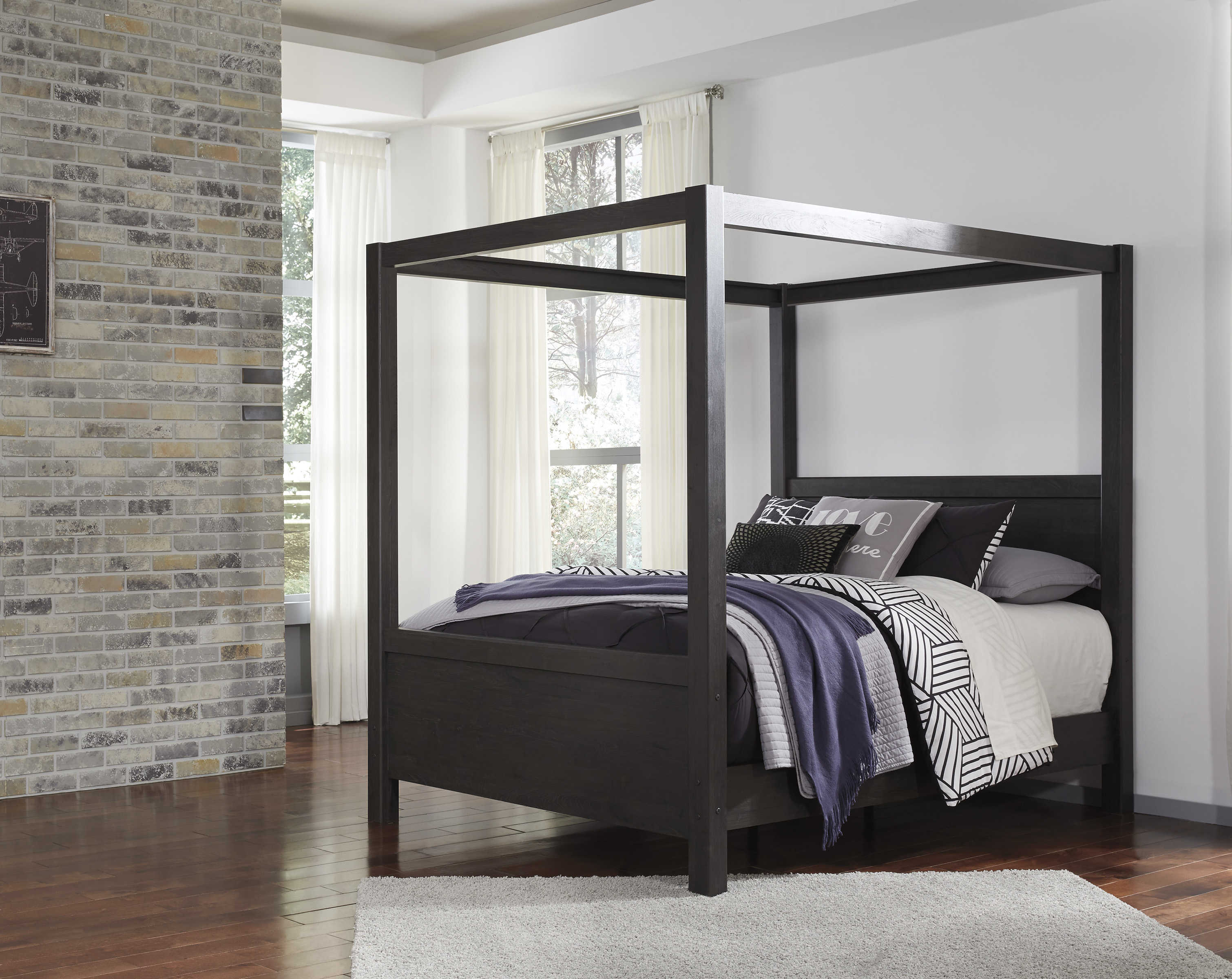 Awesome Ashley Furniture Daltori Queen Canopy Poster Bed The Home Interior And Landscaping Palasignezvosmurscom