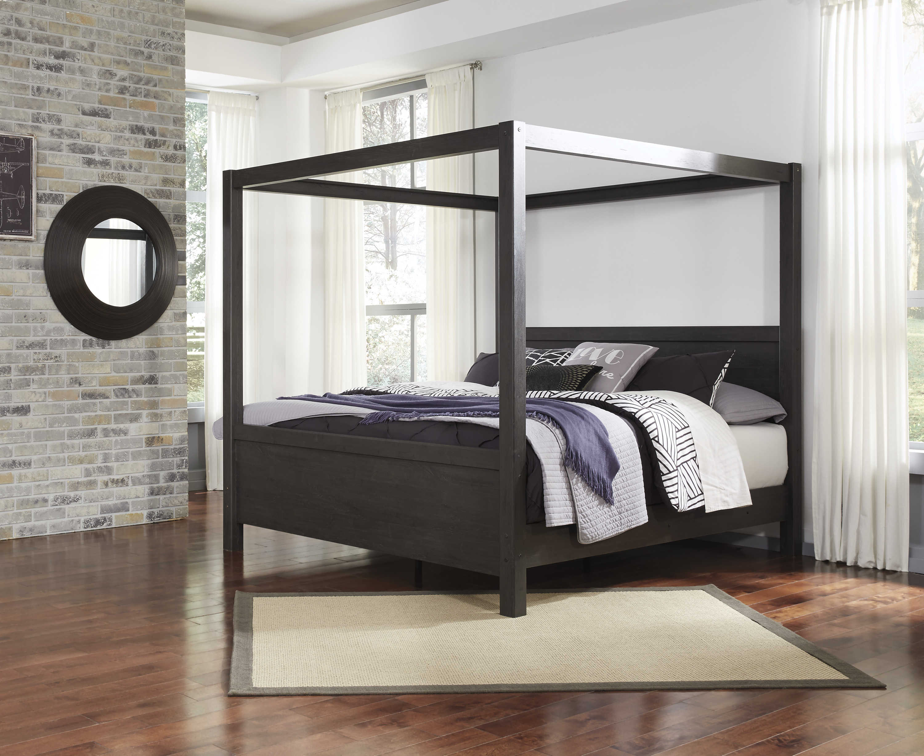 Ashley Furniture Daltori King Canopy Poster Bed The