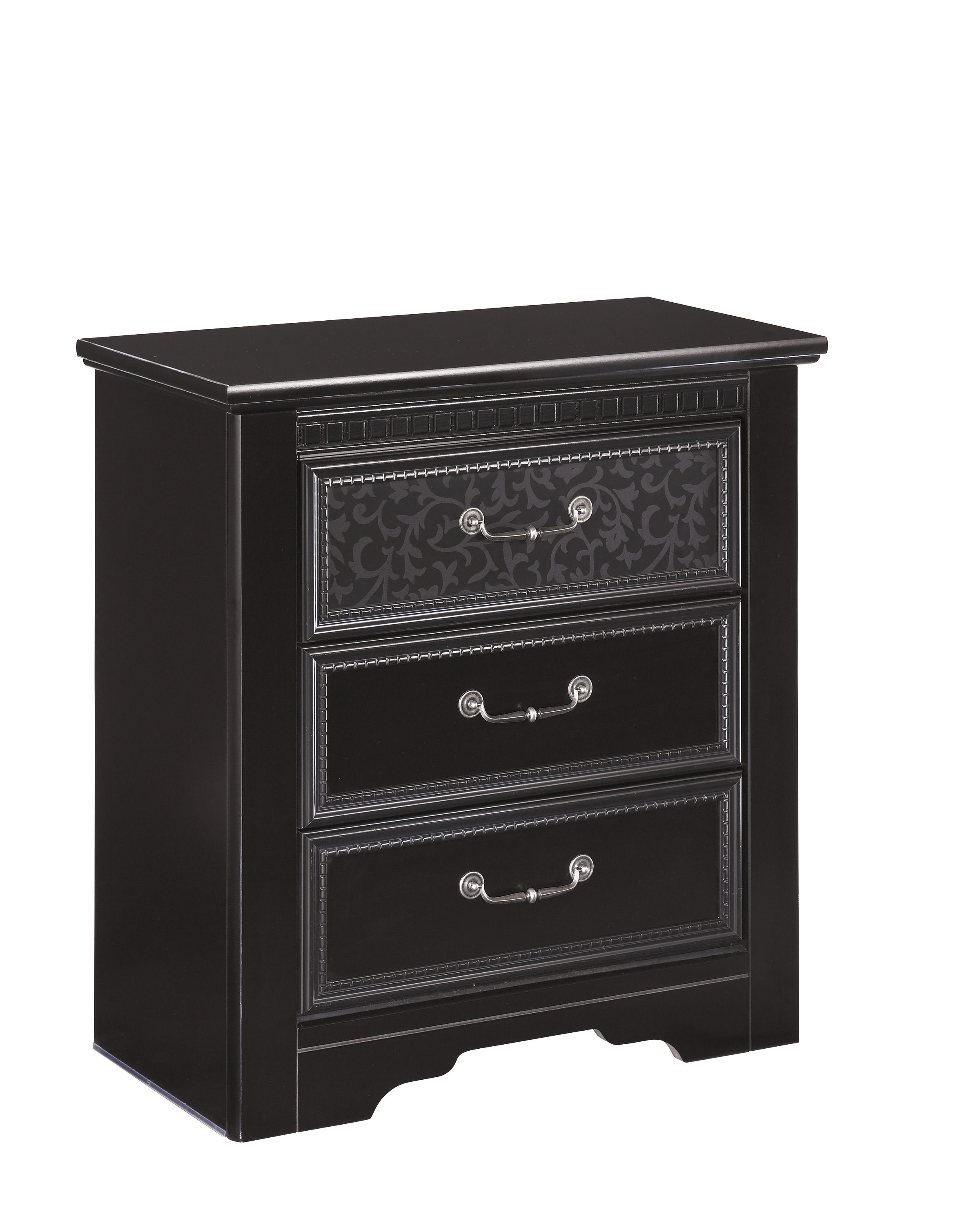 Cavallino Traditional Black Wood Large Night Stand | The Classy Home