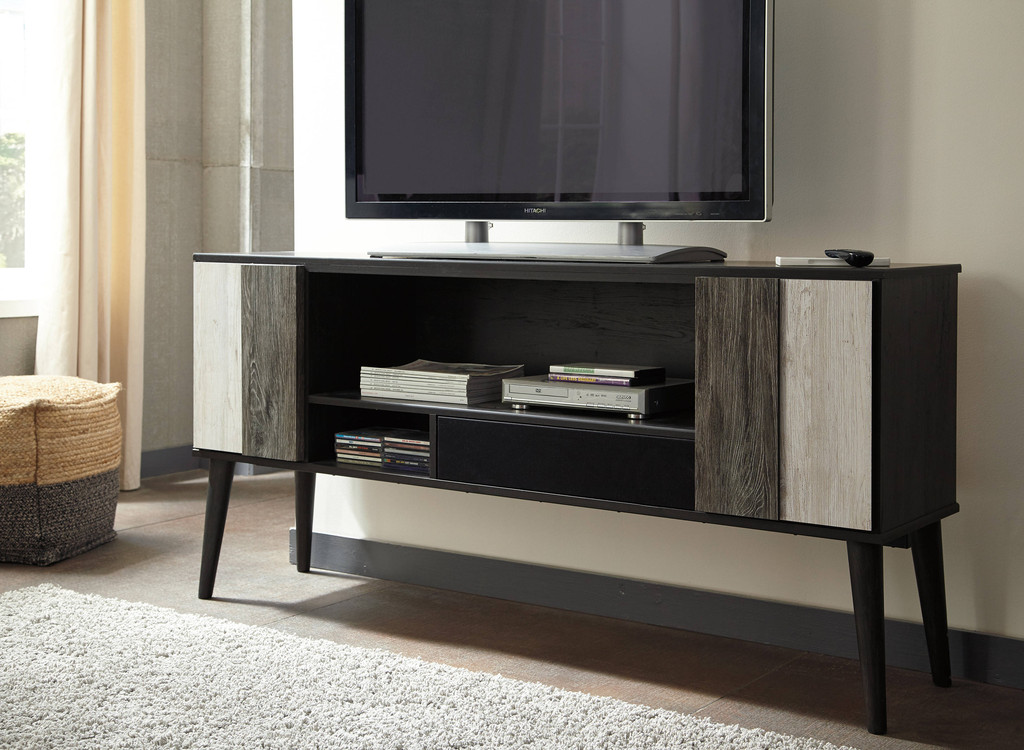 Ashley Furniture Micco Media Chest With Small Integrated ...
