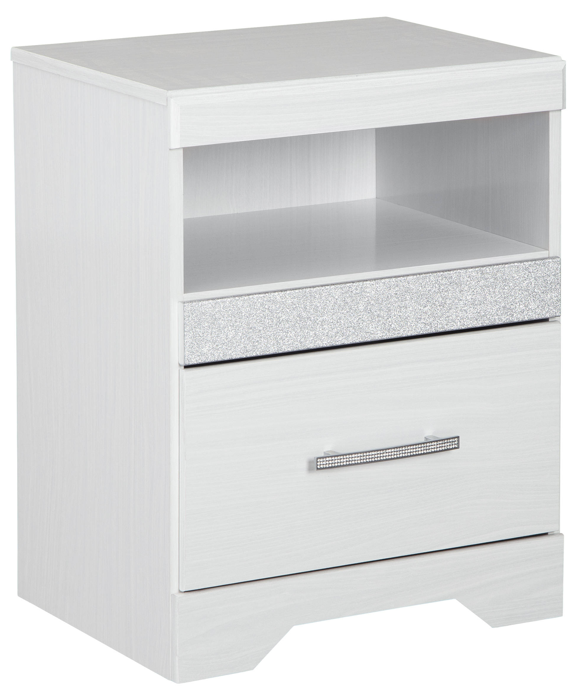 Ashley Furniture Jallory White One Drawer Night Stand