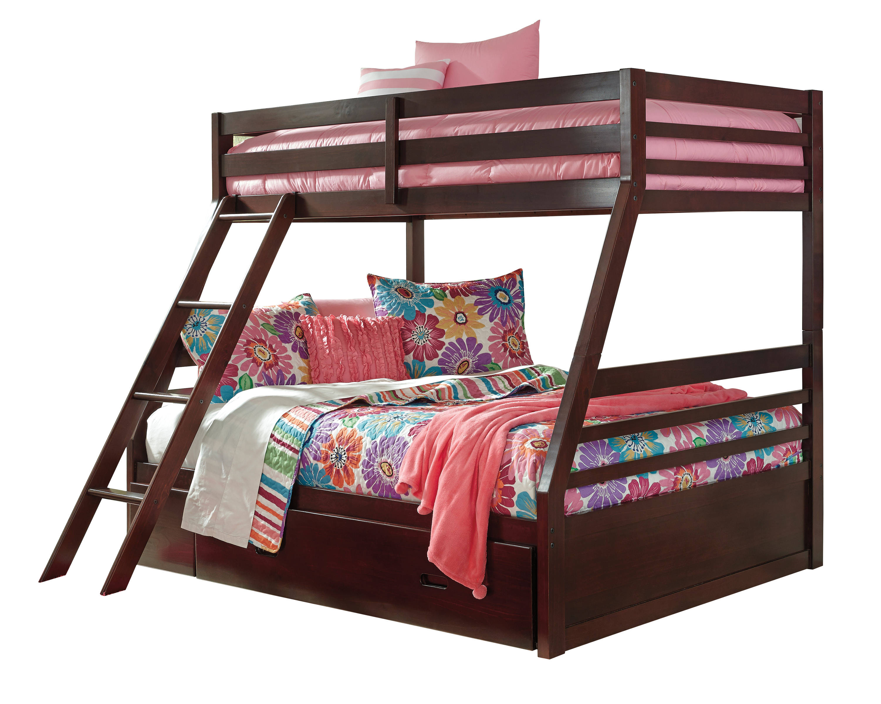 Ashley Furniture Halanton Twin Over Full Bunk Bed With Trundle The
