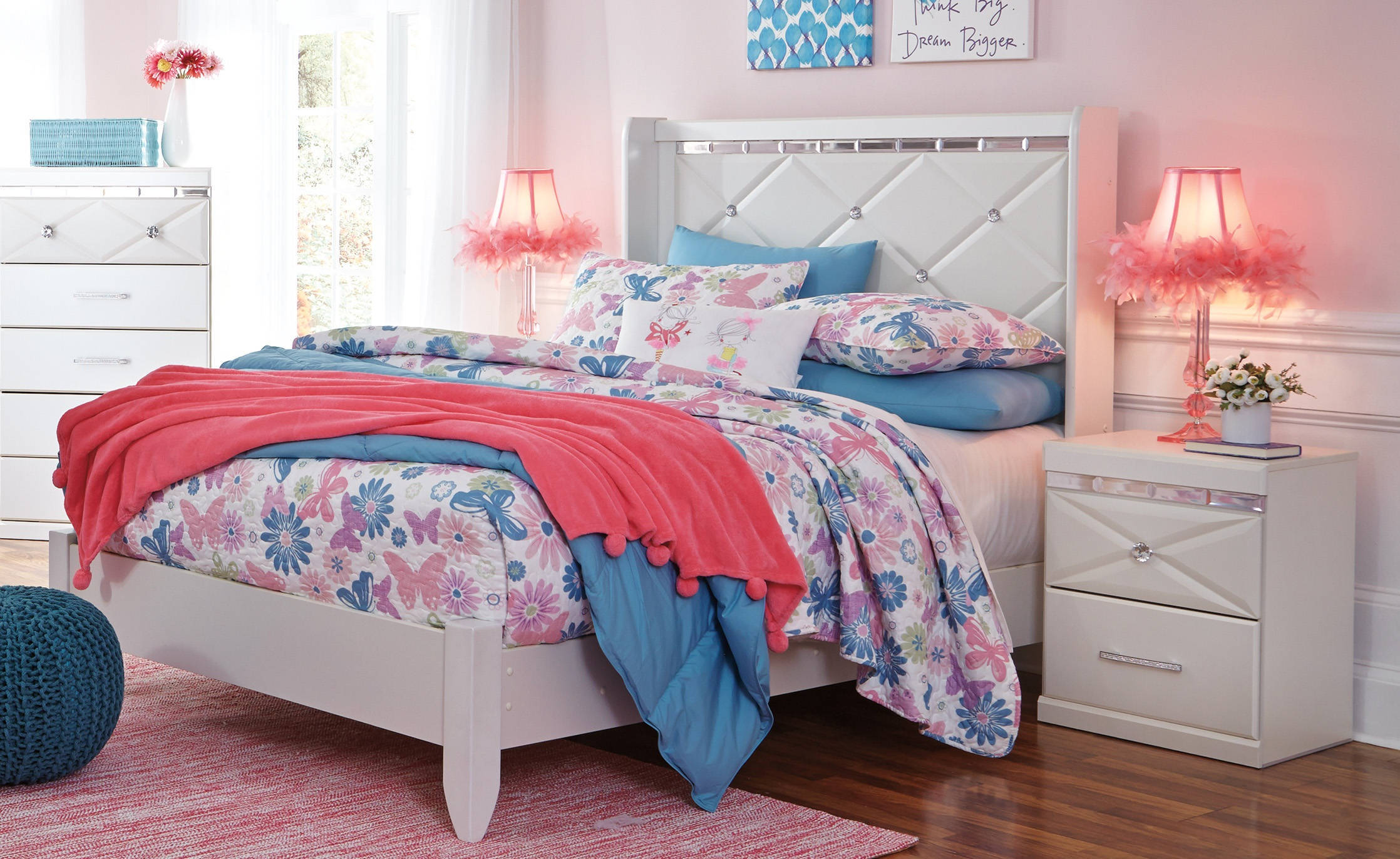 Ashley Furniture Dreamur 2pc Kids Bedroom Set with Full Panel Bed