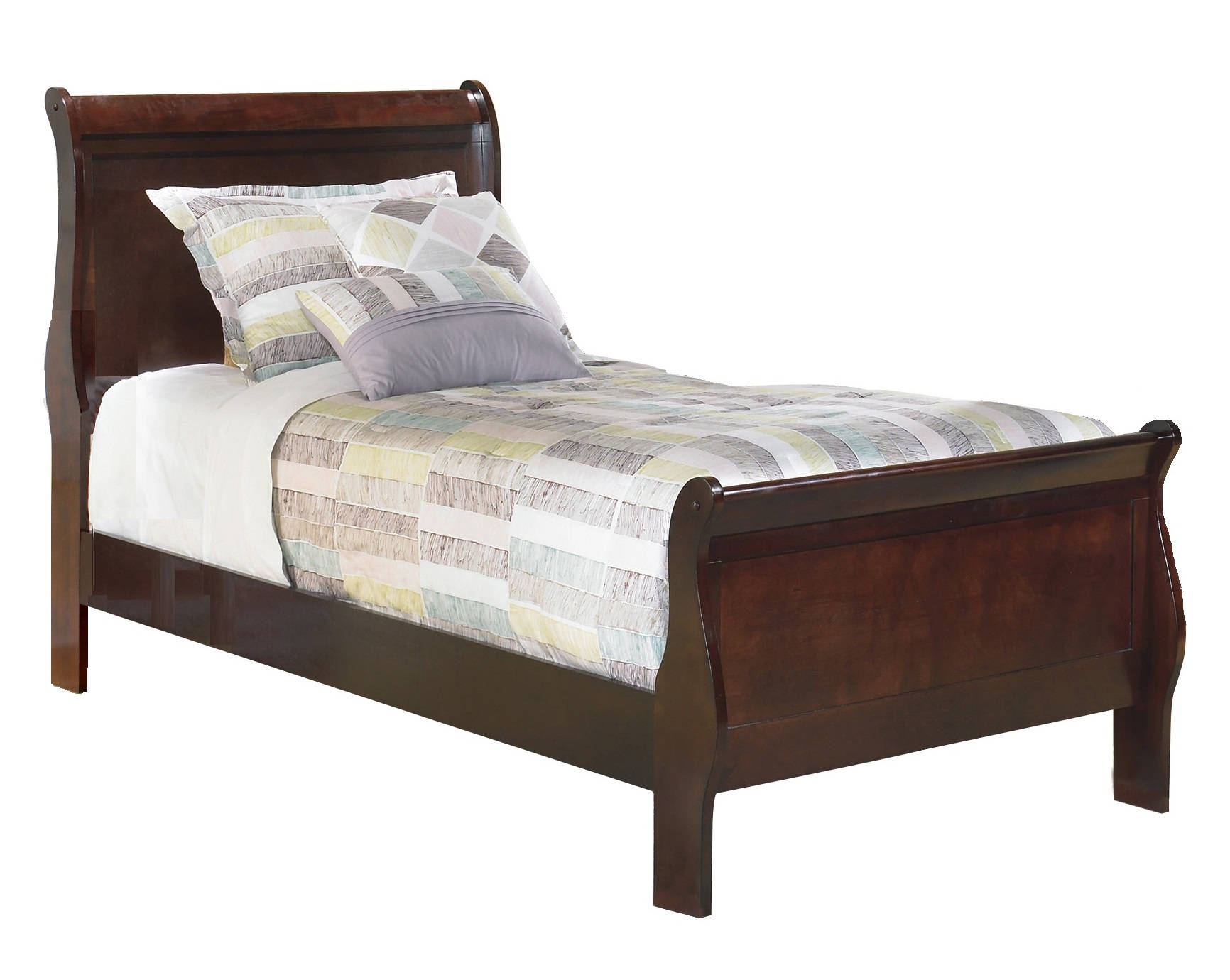 Ashley Furniture Alisdair Dark Brown Twin Sleigh Bed The Classy Home