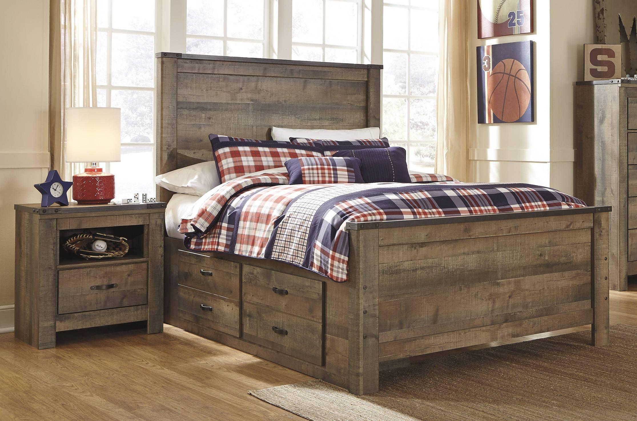 Ashley Furniture Trinell 2pc Bedroom Set With Full Drawer