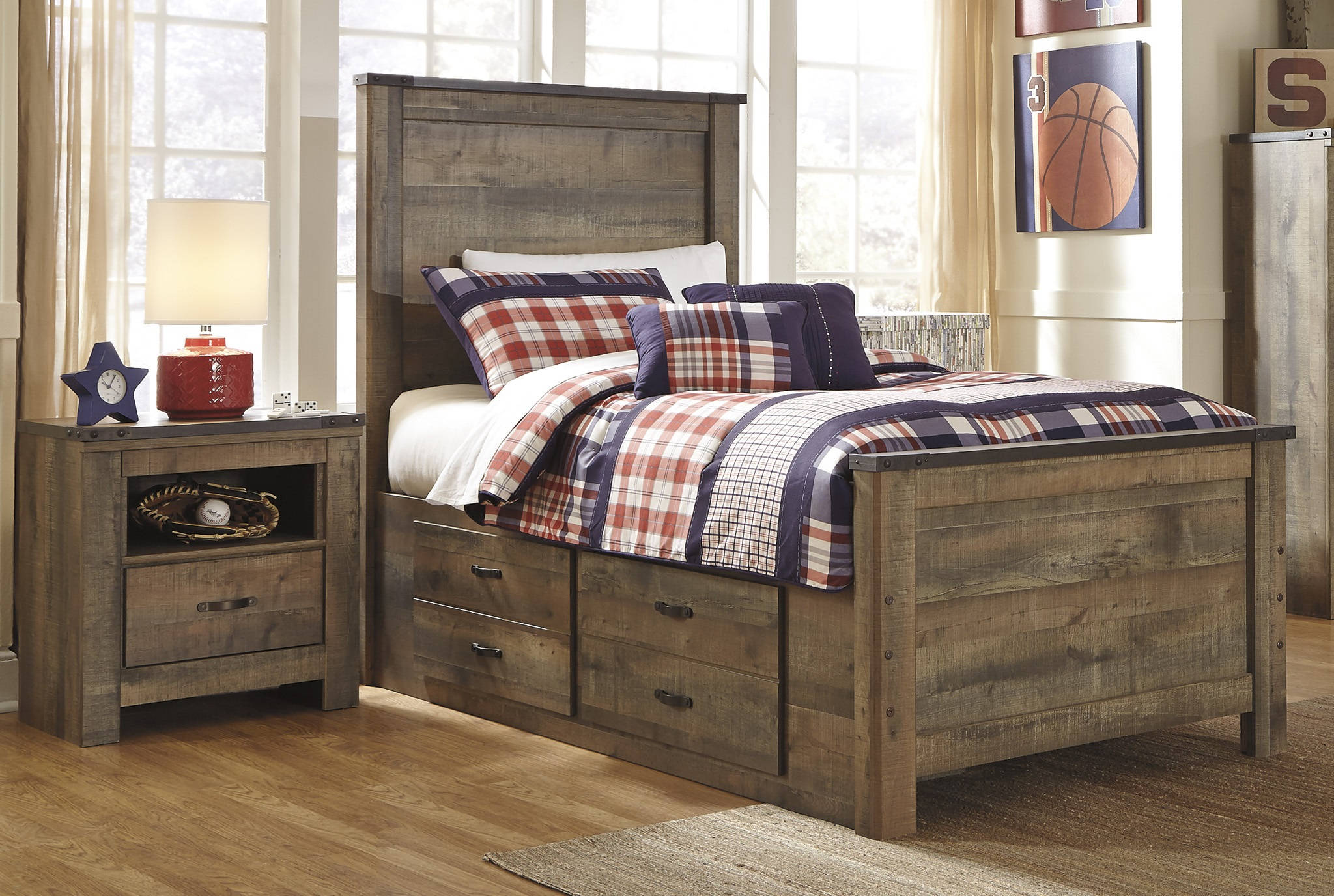 Ashley Furniture Trinell 2pc Bedroom Set With Twin Drawer Bed The Classy Home