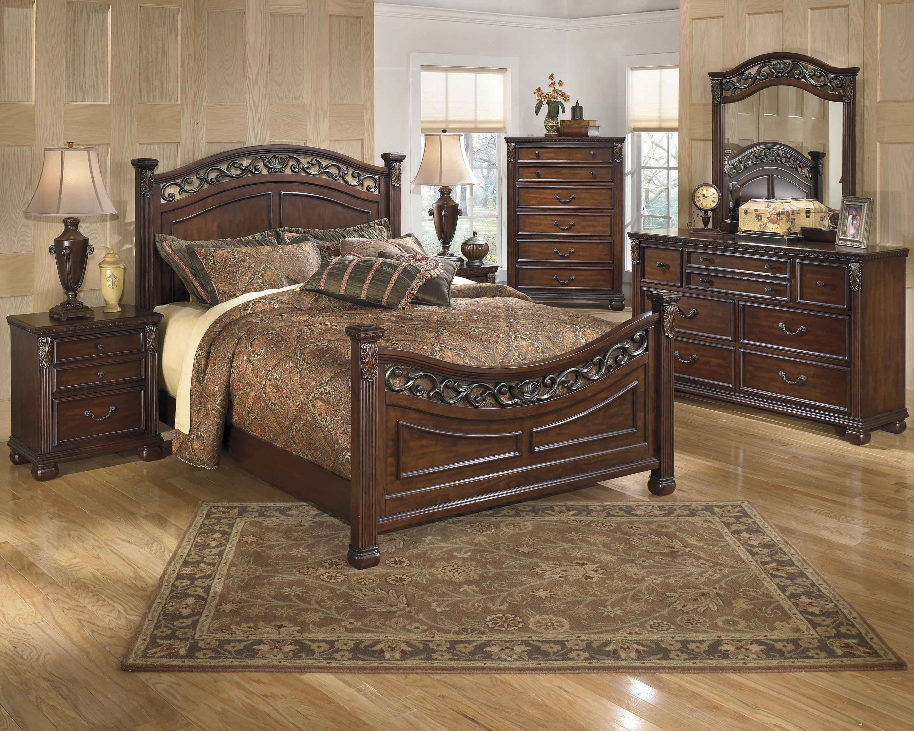 Ashley Furniture Leahlyn Master Bedroom Set The Classy Home: no dresser in master bedroom