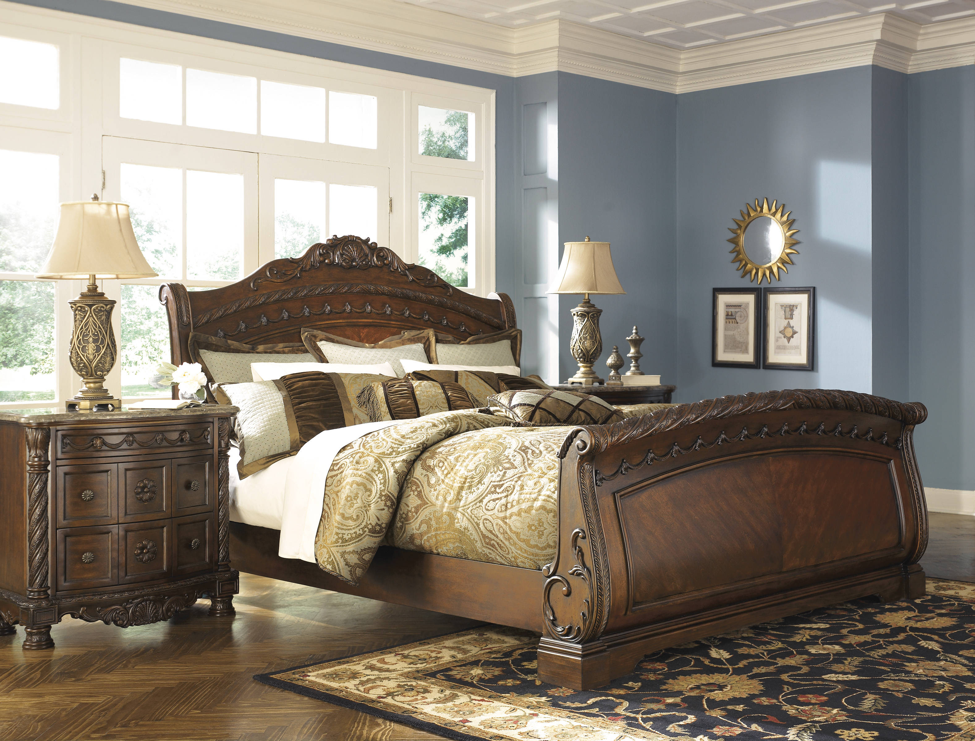 Ashley Furniture North Shore 2pc Bedroom Set With Queen Sleigh Bed