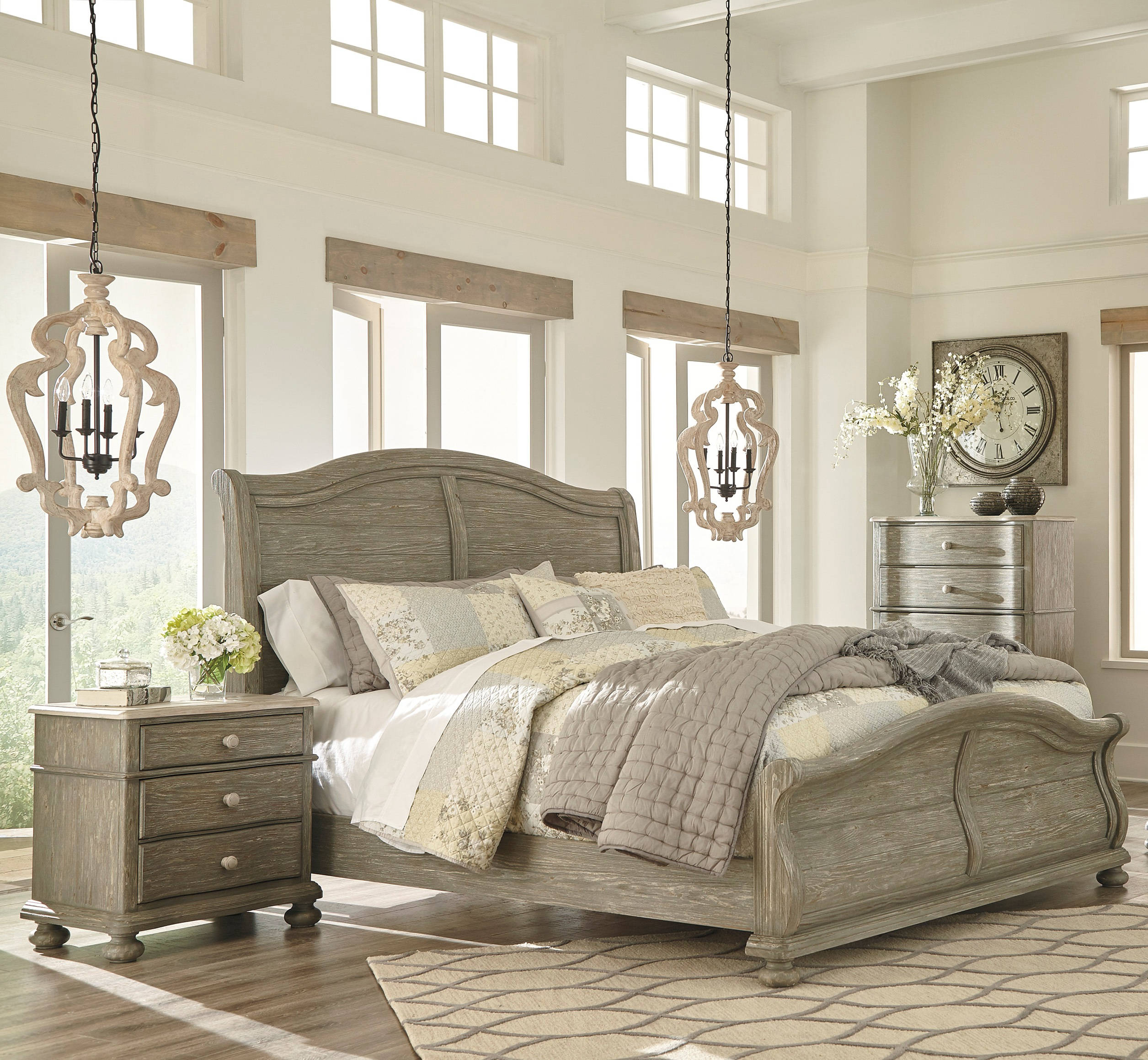 Ashley Furniture Discontinued: Ashley Furniture Marleny 2pc Bedroom Set With Queen Sleigh