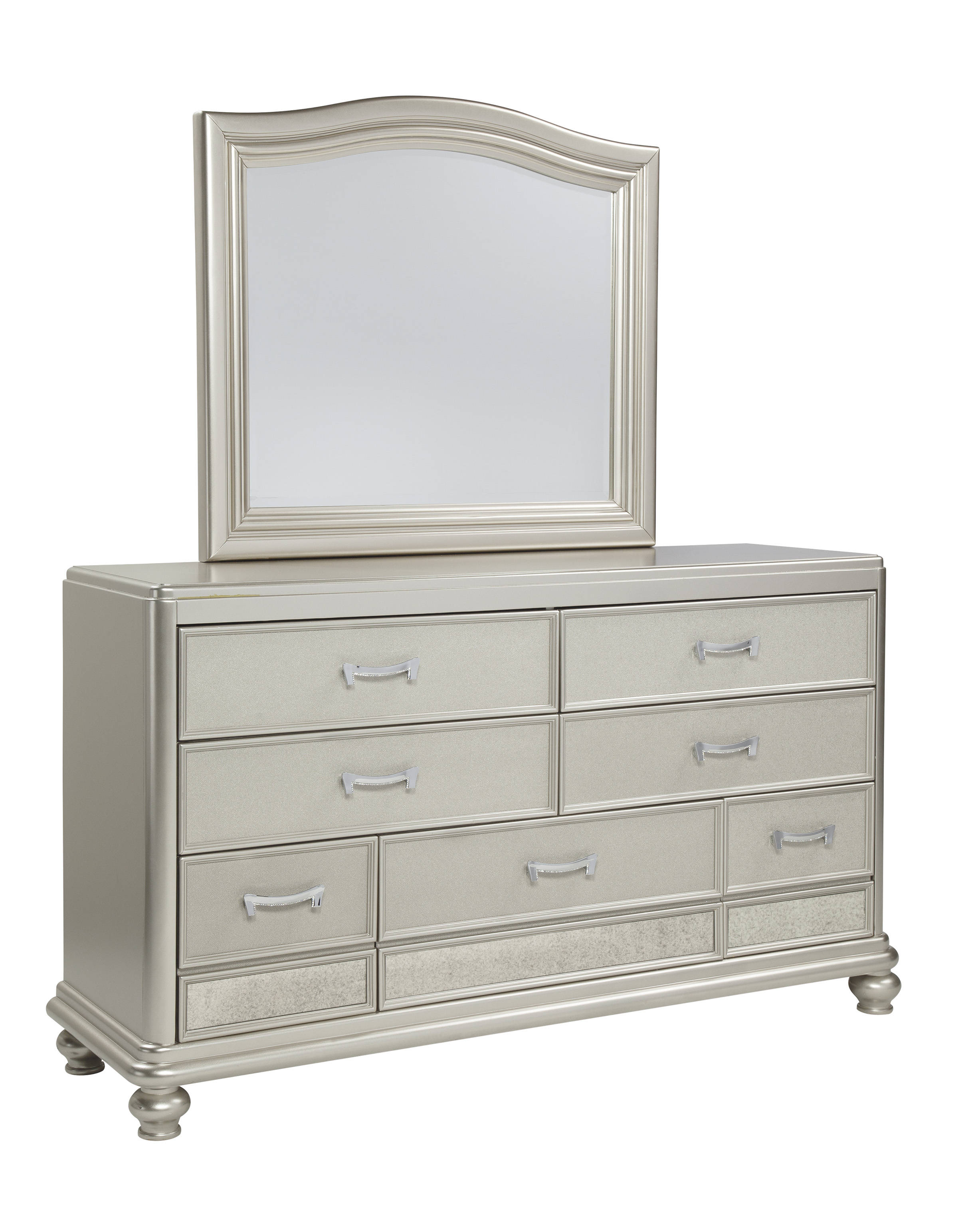 Ashley Furniture Coralayne Silver Dresser And Mirror The Classy Home