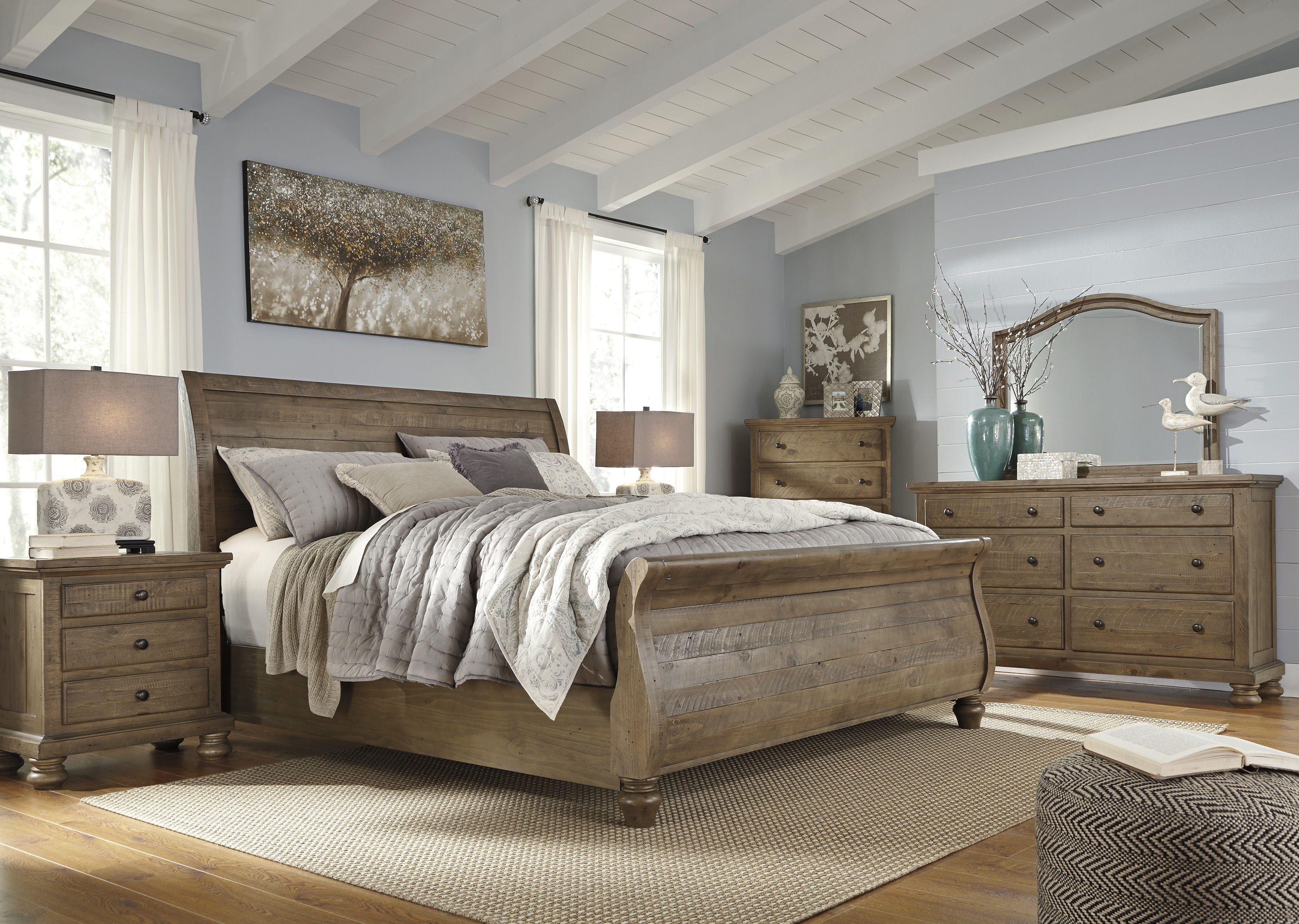 Ashley furniture trishley light brown master bedroom set the classy home No dresser in master bedroom