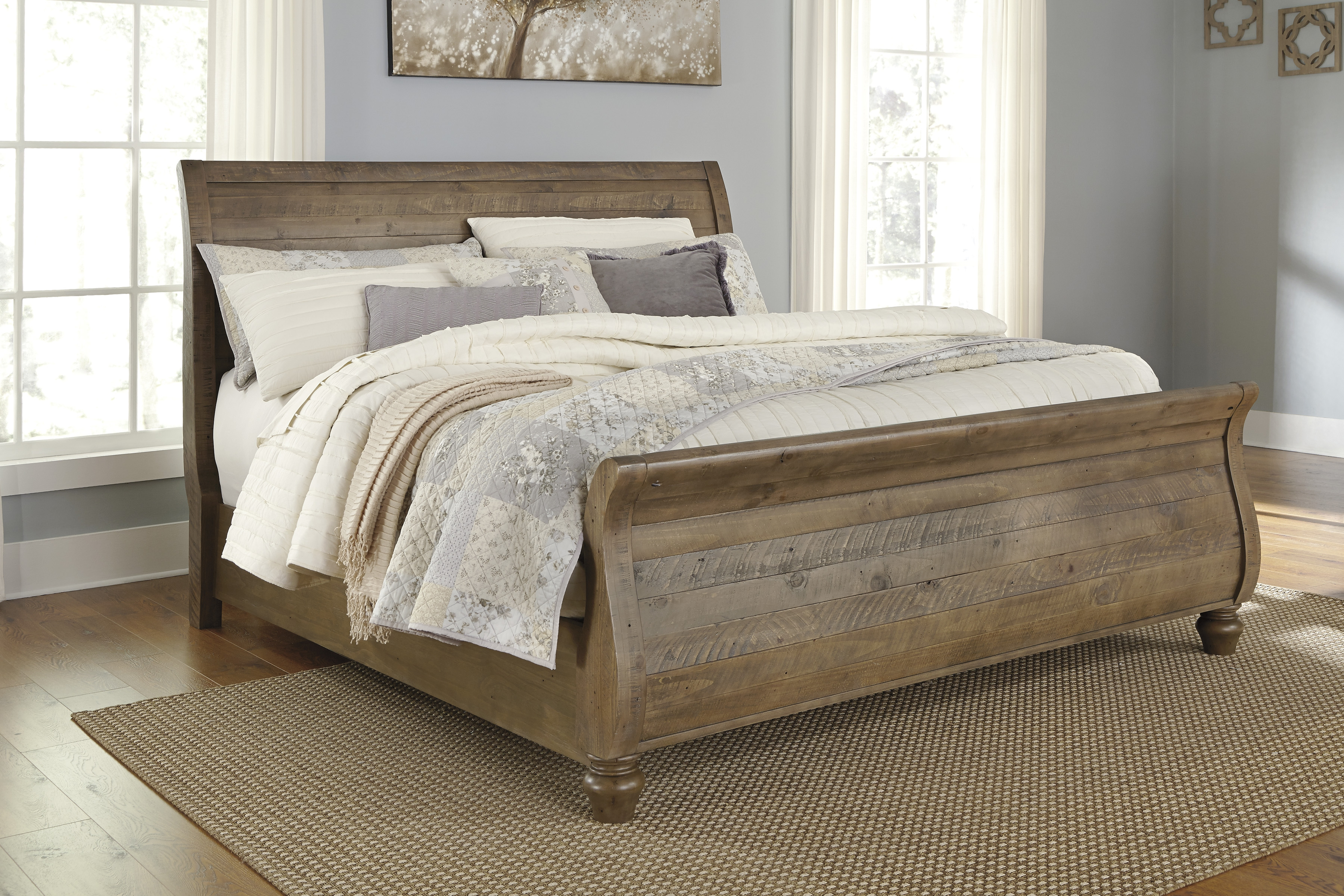 Ashley Furniture Trishley Light Brown Queen Sleigh Bed