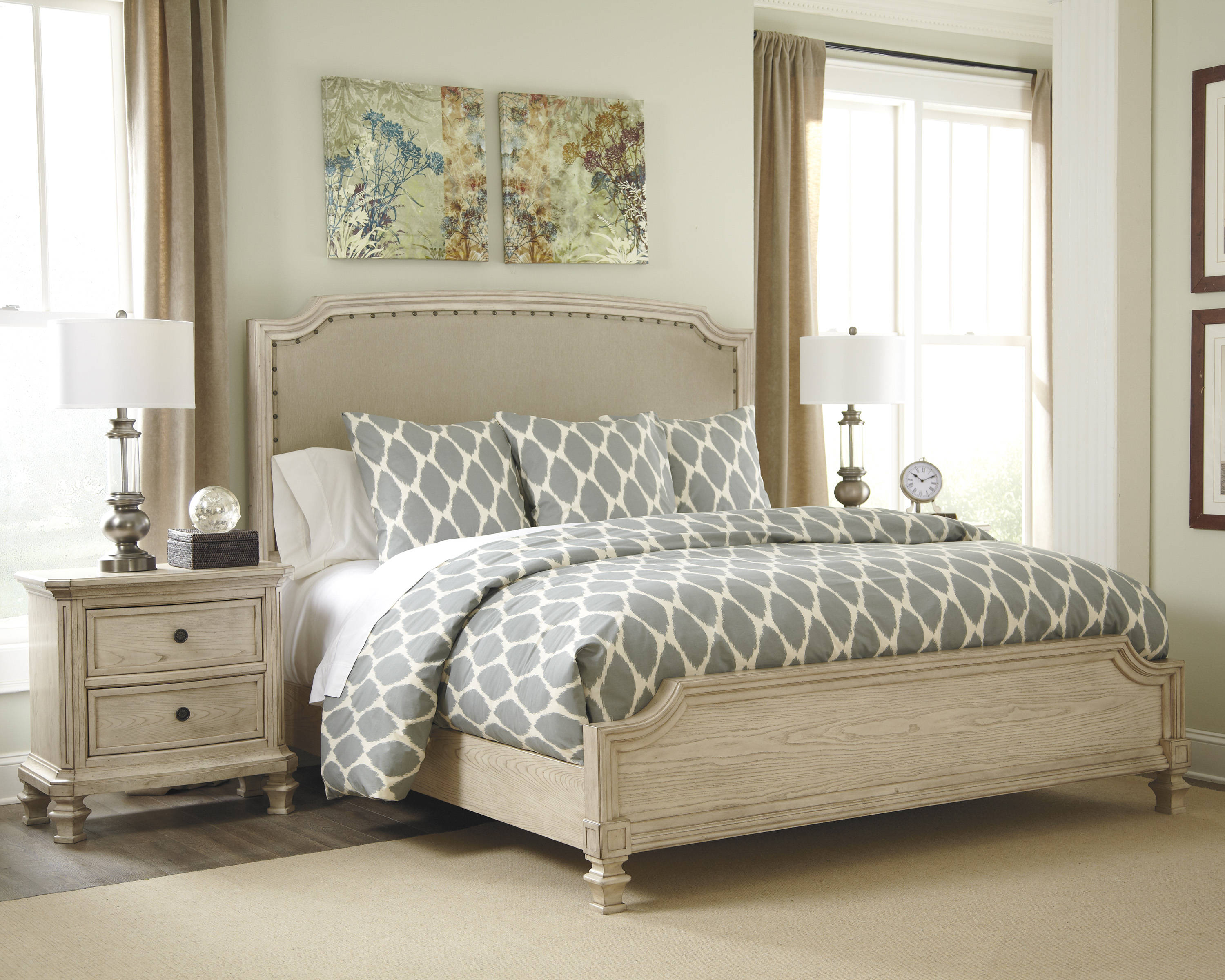 Ashley Furniture Demarlos 2pc Bedroom Set with King Upholstered Bed