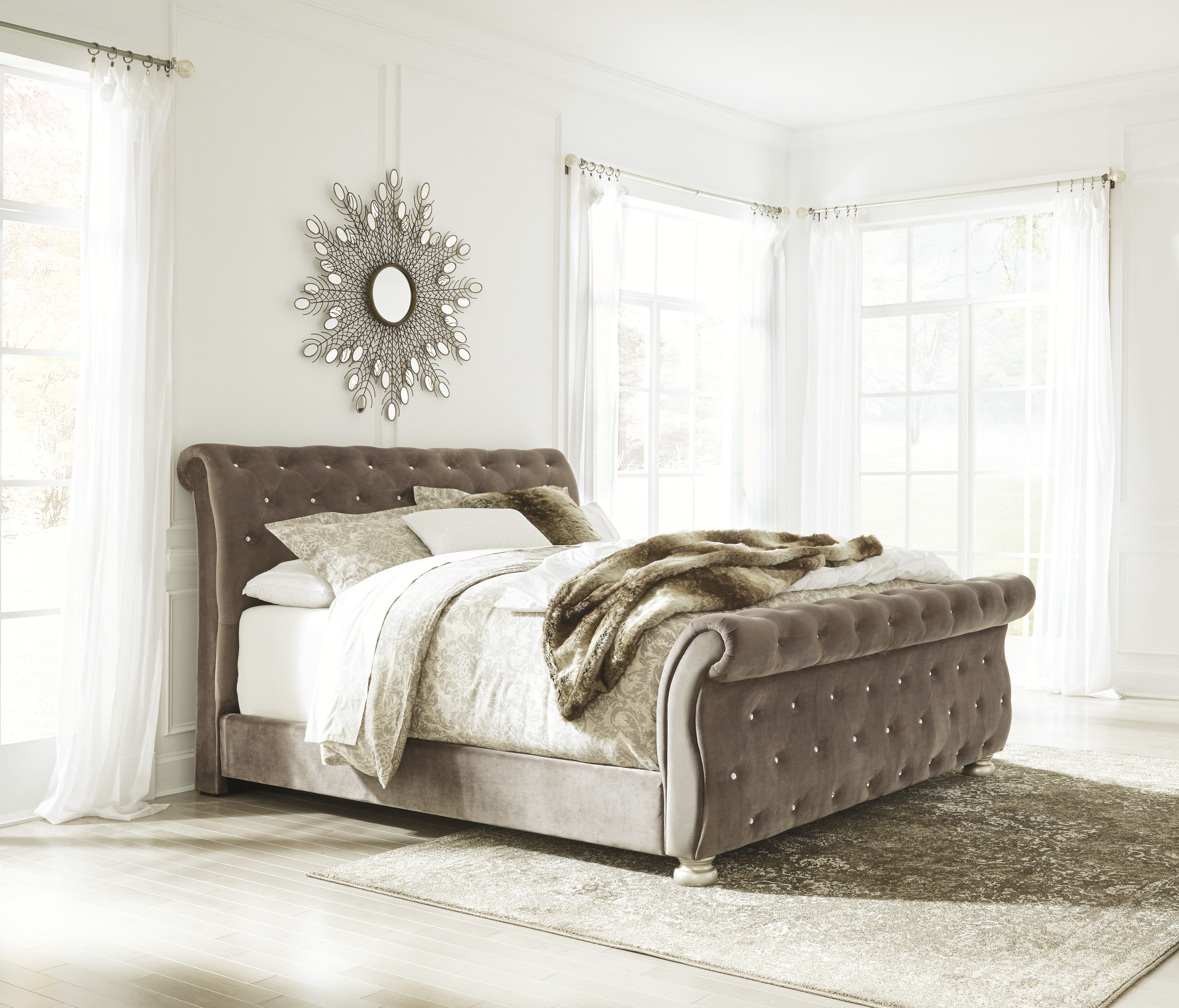 Ashley Furniture Cassimore Queen Upholstered Bed The Classy Home