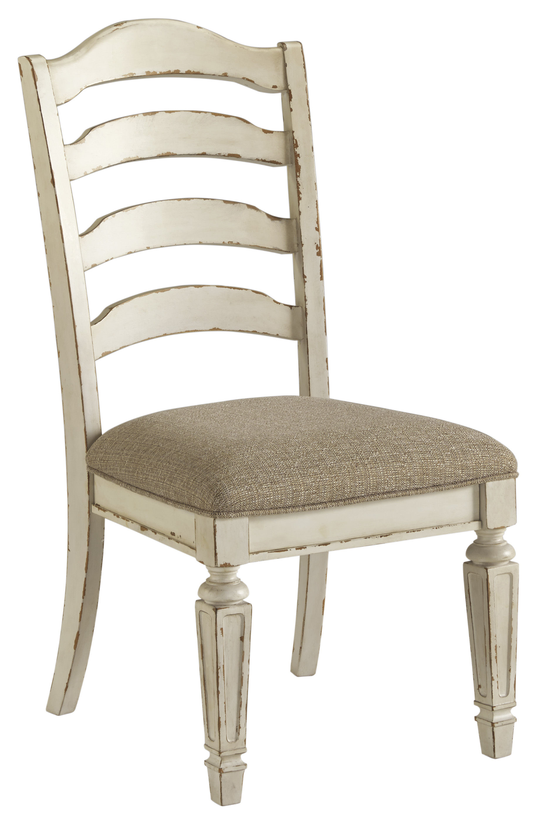 Amazing 2 Ashley Furniture Realyn White Dining Upholstered Side Chairs Machost Co Dining Chair Design Ideas Machostcouk
