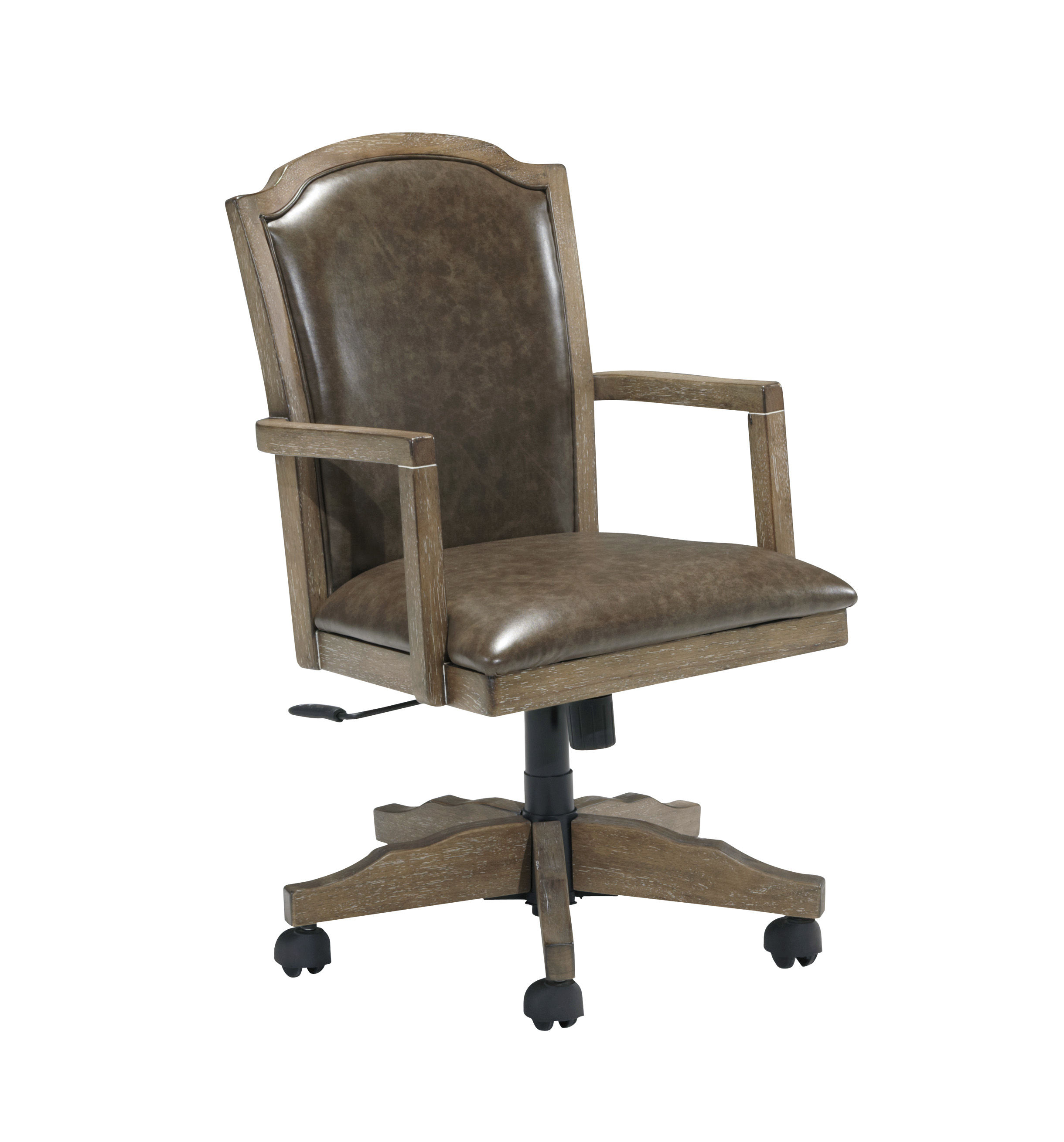 Tanshire Wood Faux Leather Home Office Swivel Desk Chair To Enlarge