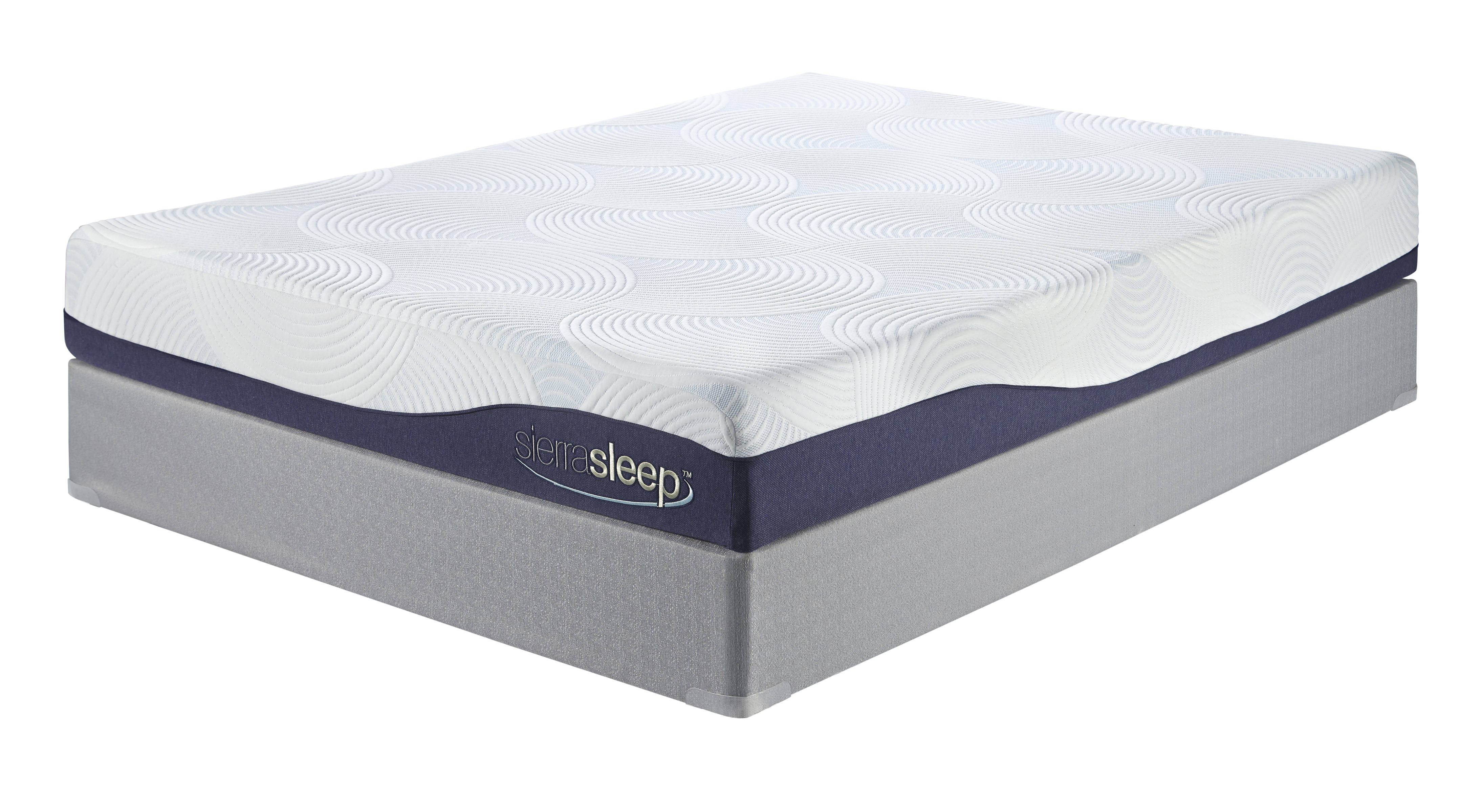 Sierra Sleep Ashley Furniture White Gray Queen Mattress With Foundation The Classy Home