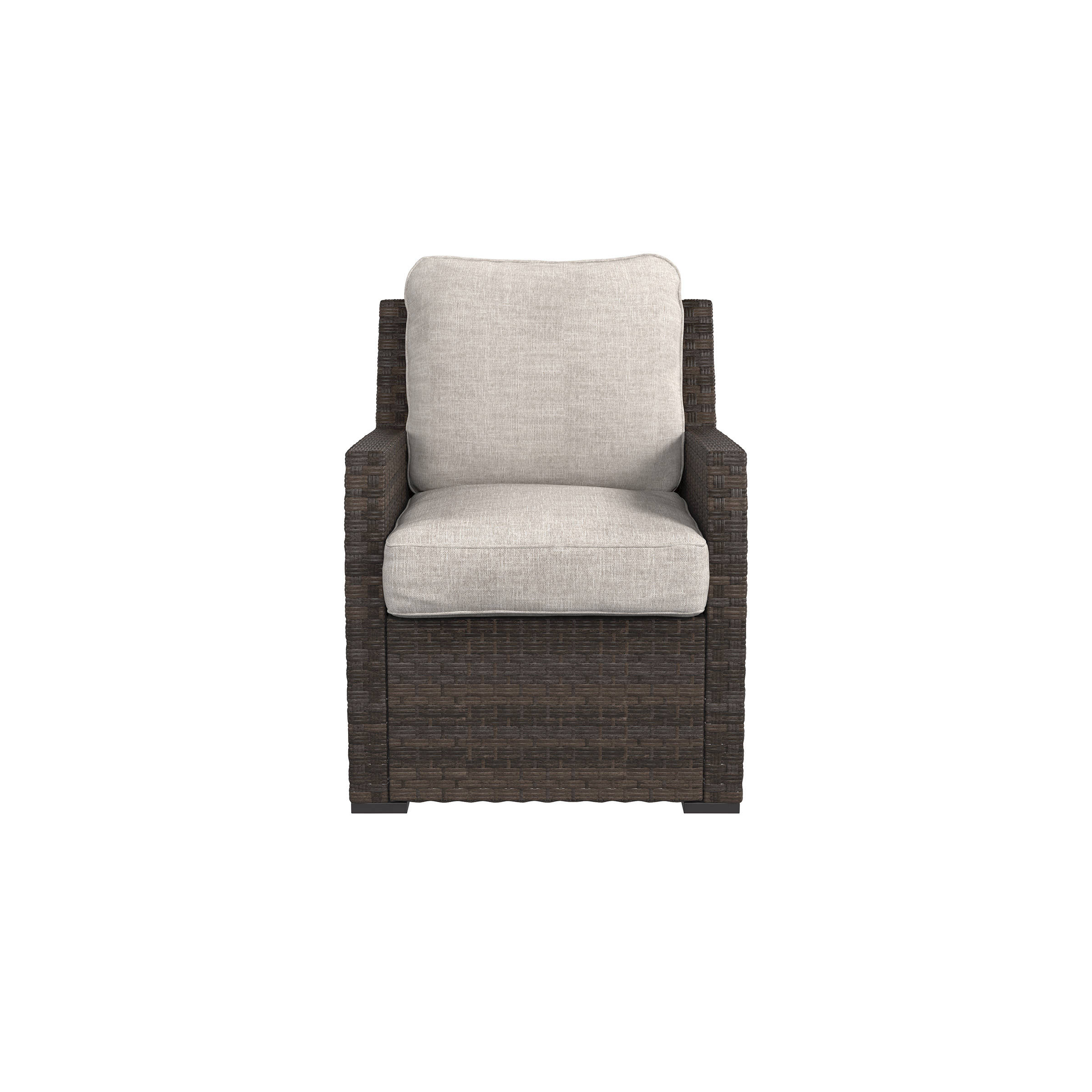 Ashley Furniture Salceda Beige Brown Lounge Chair With Cushion Click To  Enlarge ...