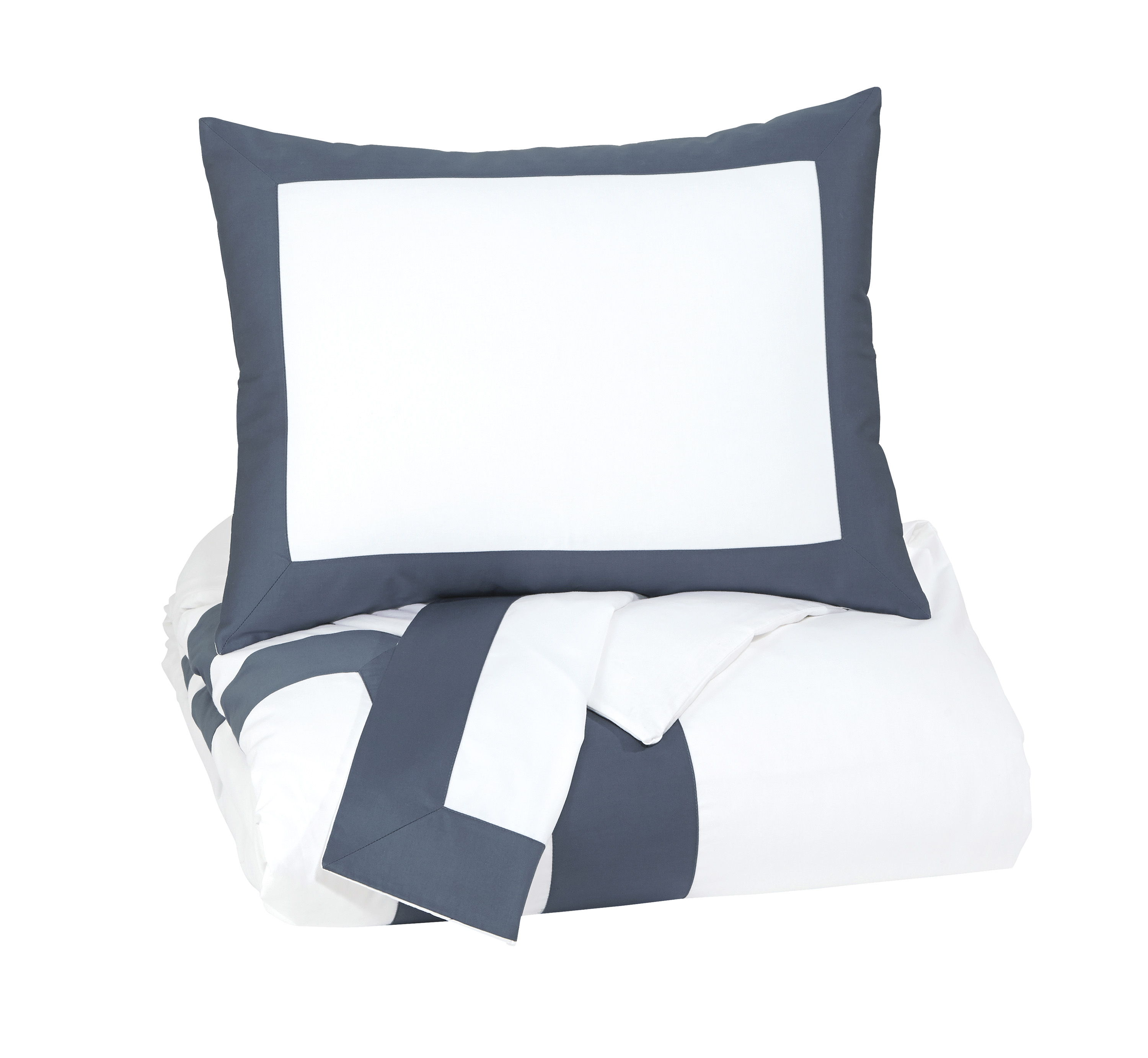 Ashley Furniture Daruka Blue Queen Duvet Cover Set | The Classy Home