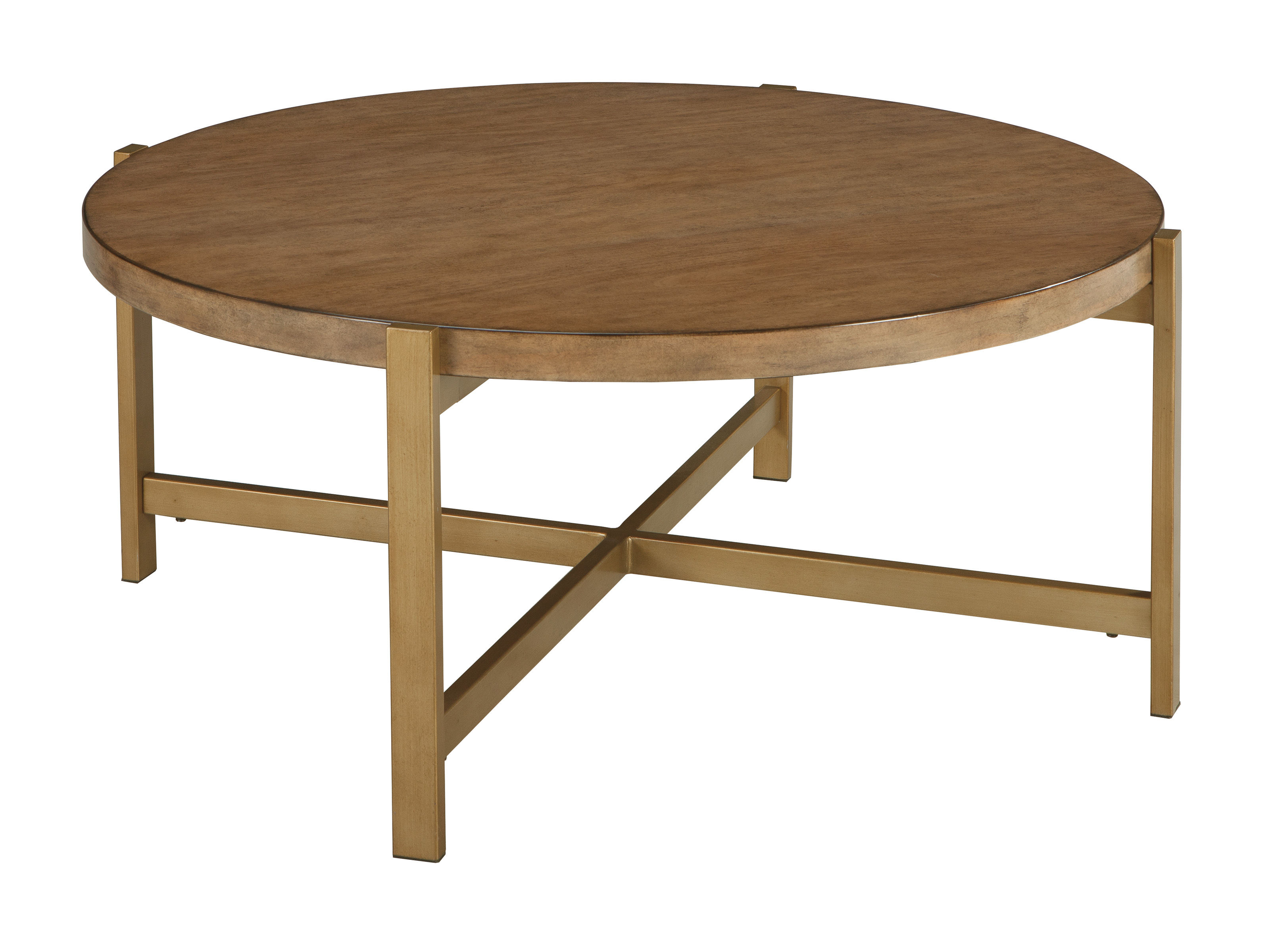 Pleasing Ashley Furniture Franston Light Brown Round Cocktail Table Interior Design Ideas Gentotryabchikinfo