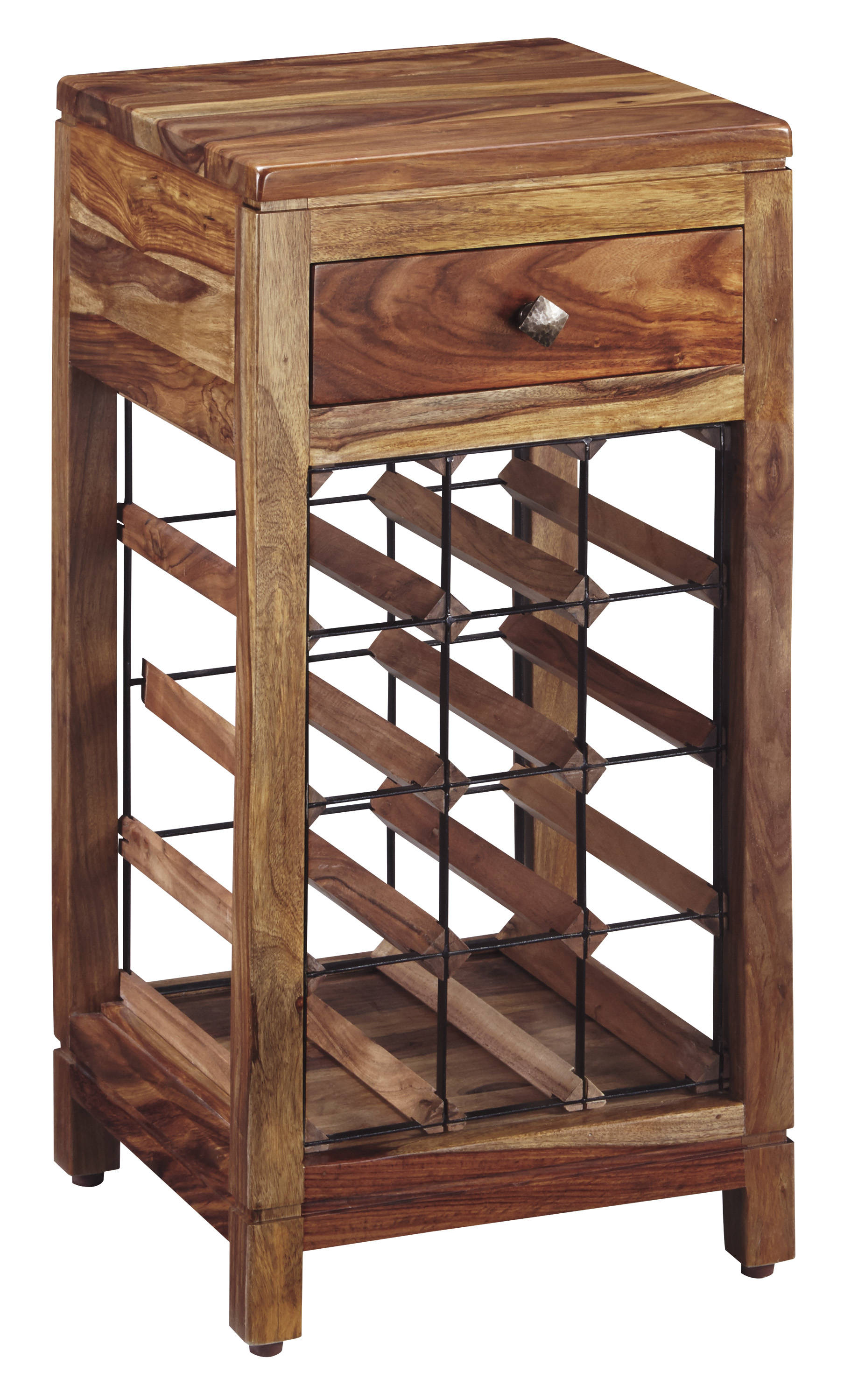 Ashley Furniture Abbonto Warm Brown Wine Cabinet Click To Enlarge