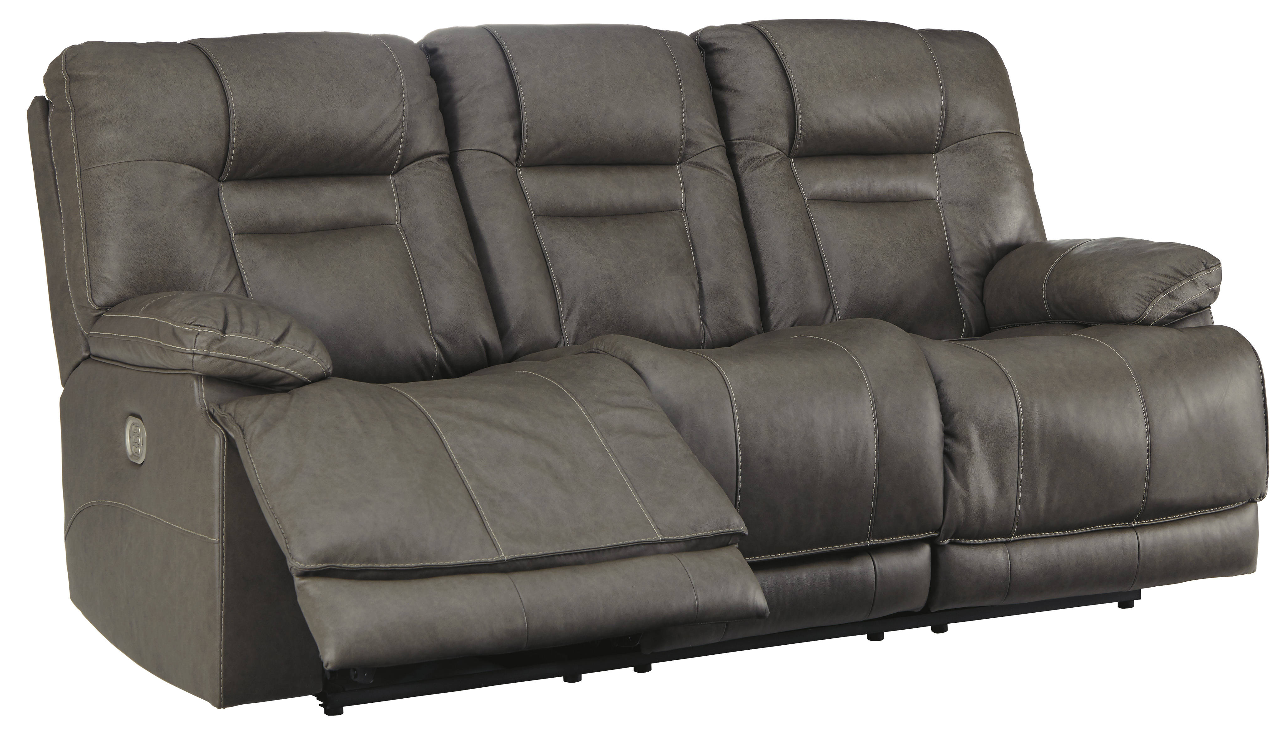 Swell Ashley Furniture Wurstrow Smoke Power Reclining Sofa With Adjustable Headrest Home Interior And Landscaping Mentranervesignezvosmurscom